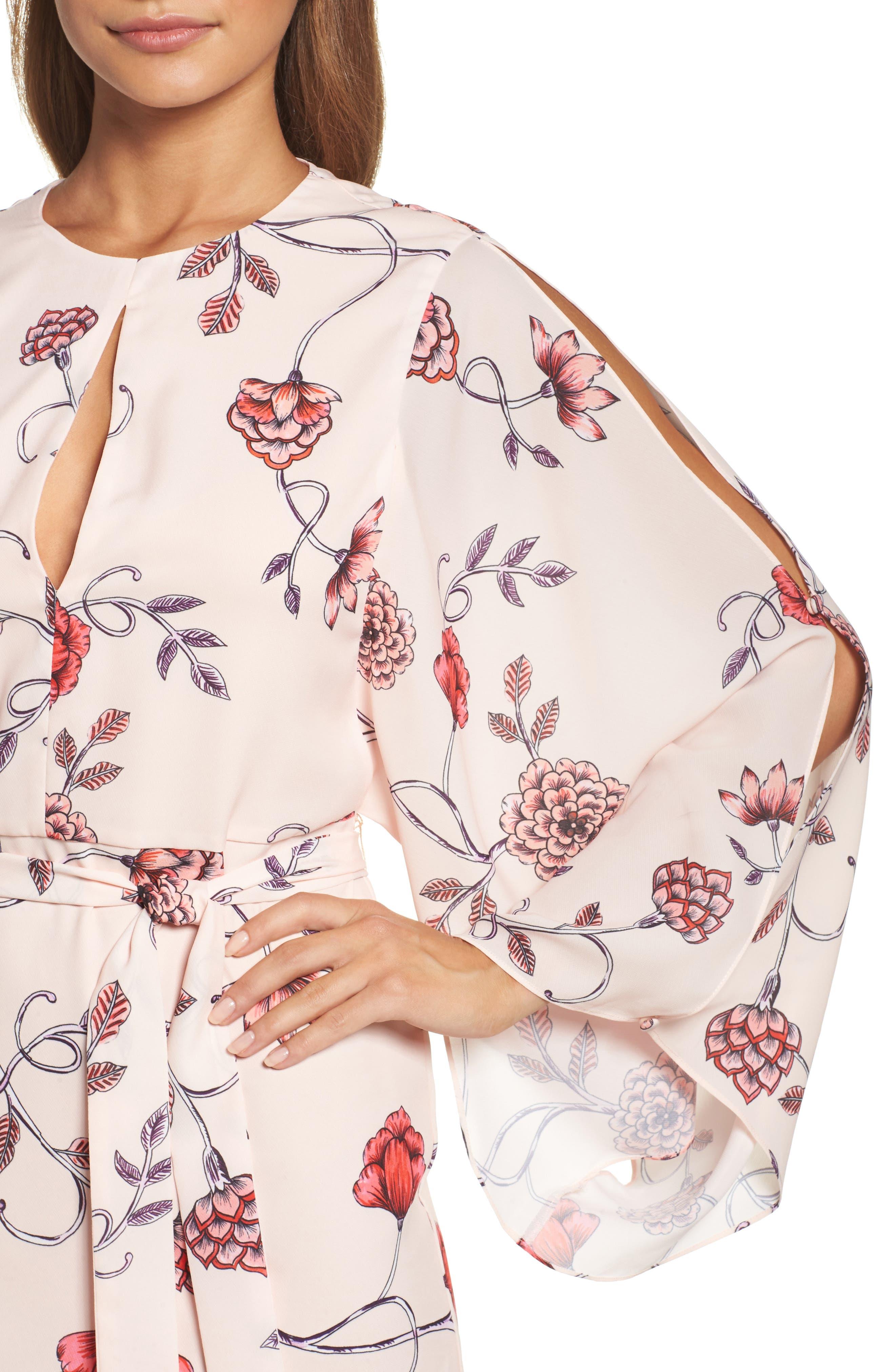 Sakura Bell Sleeve Dress,                             Alternate thumbnail 4, color,                             650