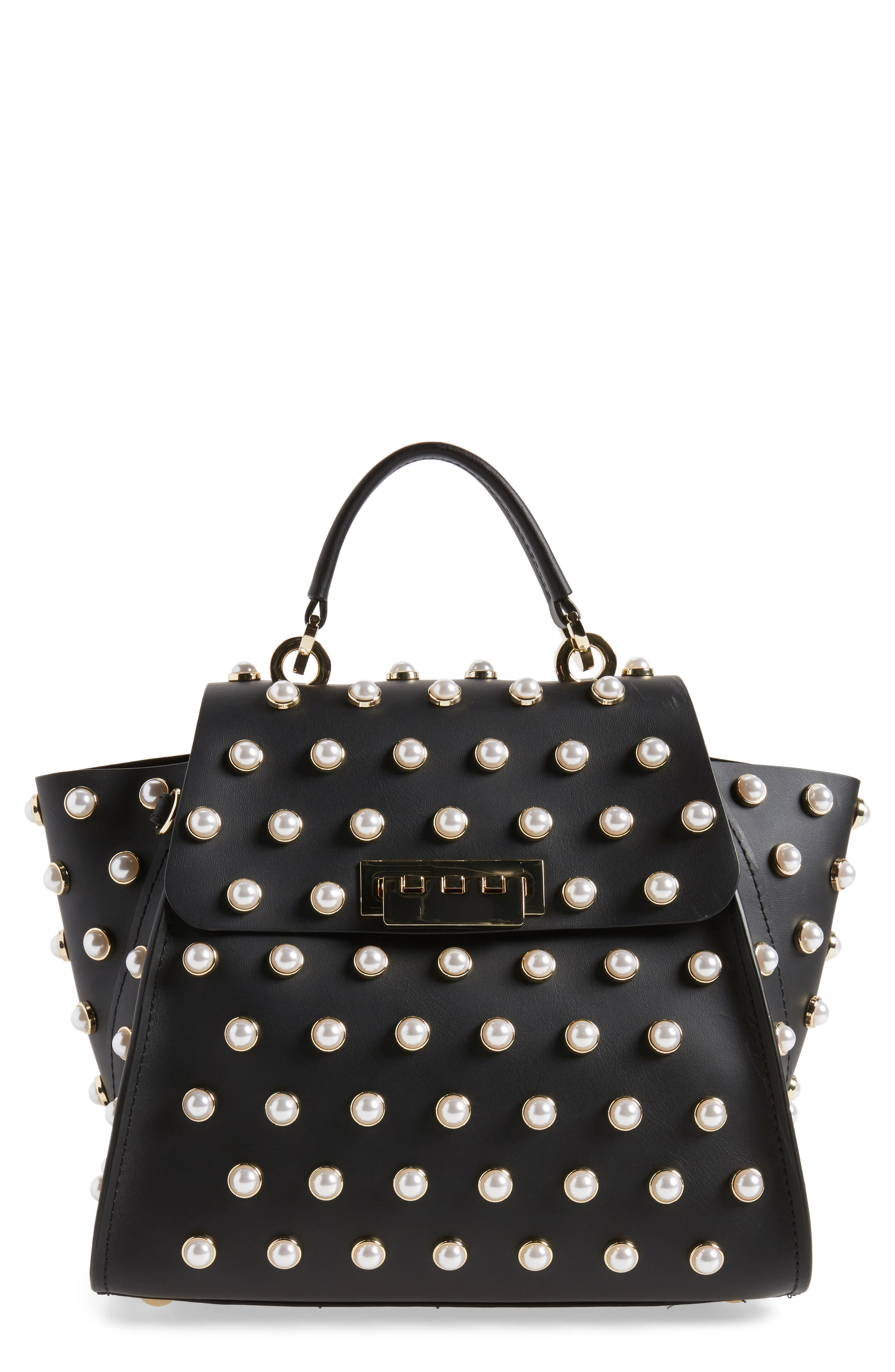 Eartha Iconic Embellished Convertible Leather Backpack,                         Main,                         color,
