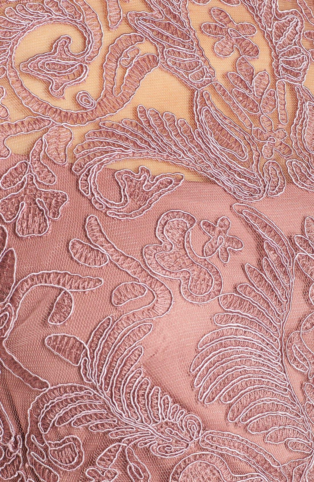Illusion Yoke Lace Sheath Dress,                             Alternate thumbnail 58, color,