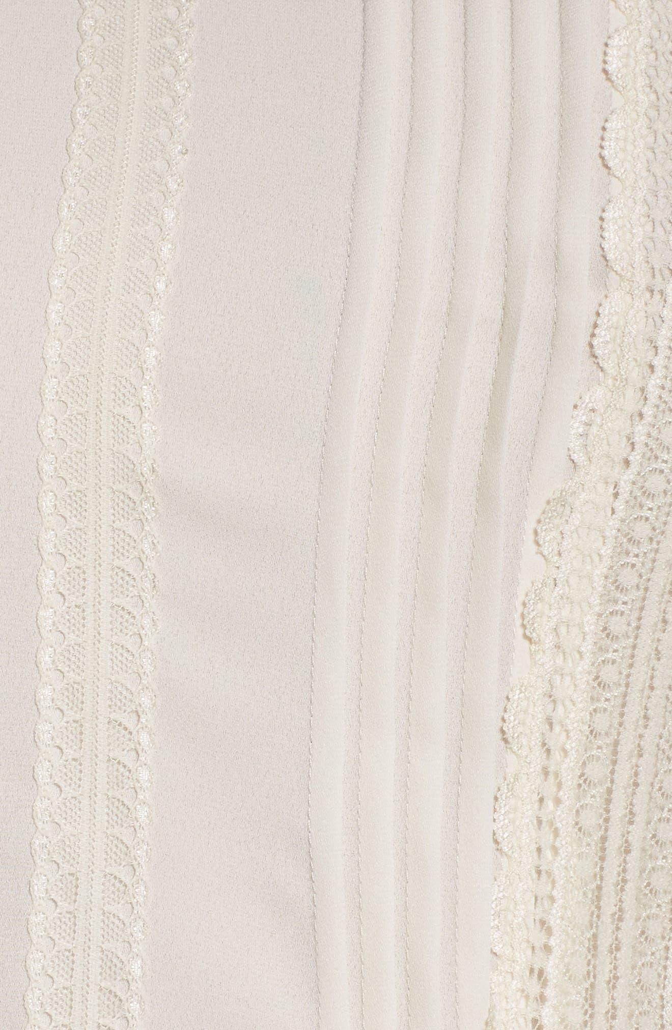 Lace Trim Peplum Blouse,                             Alternate thumbnail 15, color,