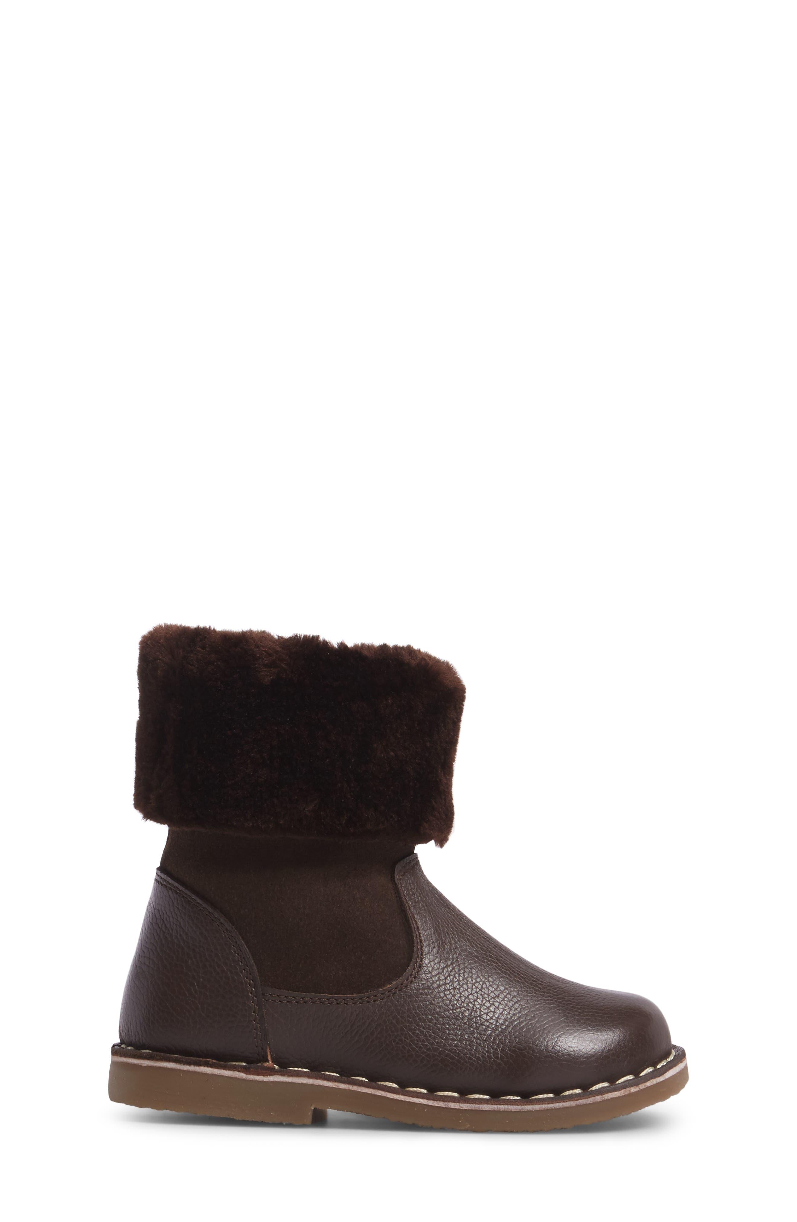 Faux Fur Cuffed Boot,                             Alternate thumbnail 3, color,                             204
