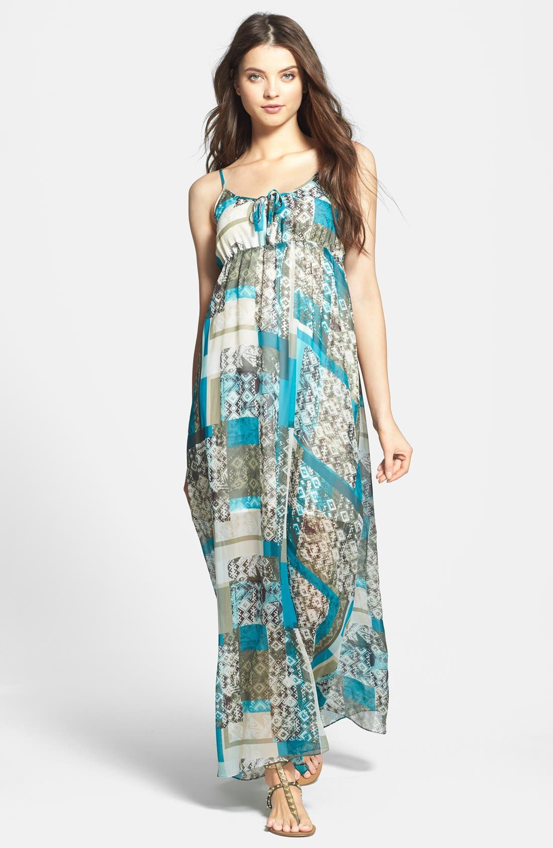 TWO BY VINCE CAMUTO 'Bohemian Patchwork' Maxi Dress, Main, color, 440
