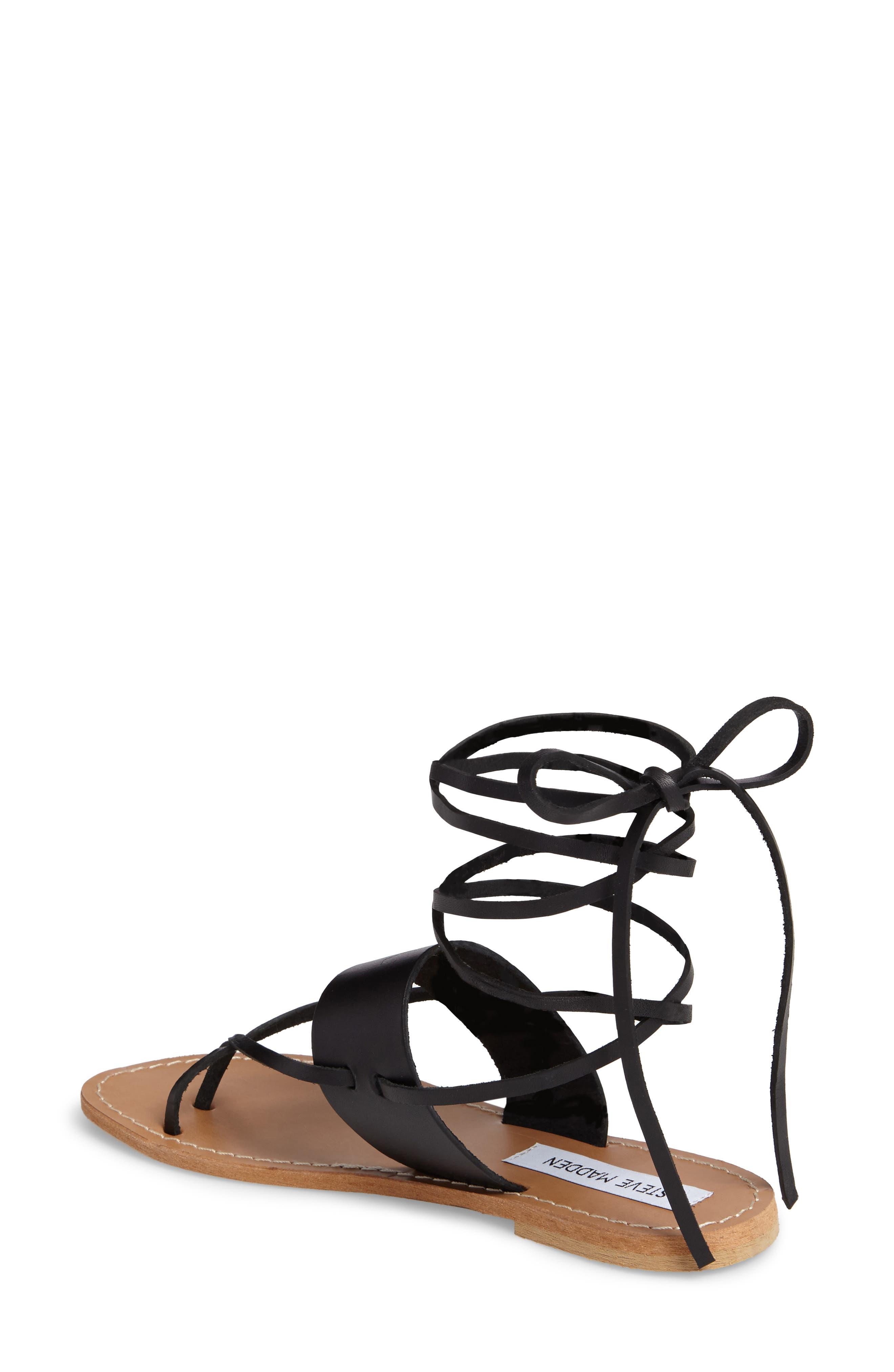 Bianca Lace-Up Sandal,                             Alternate thumbnail 2, color,                             001