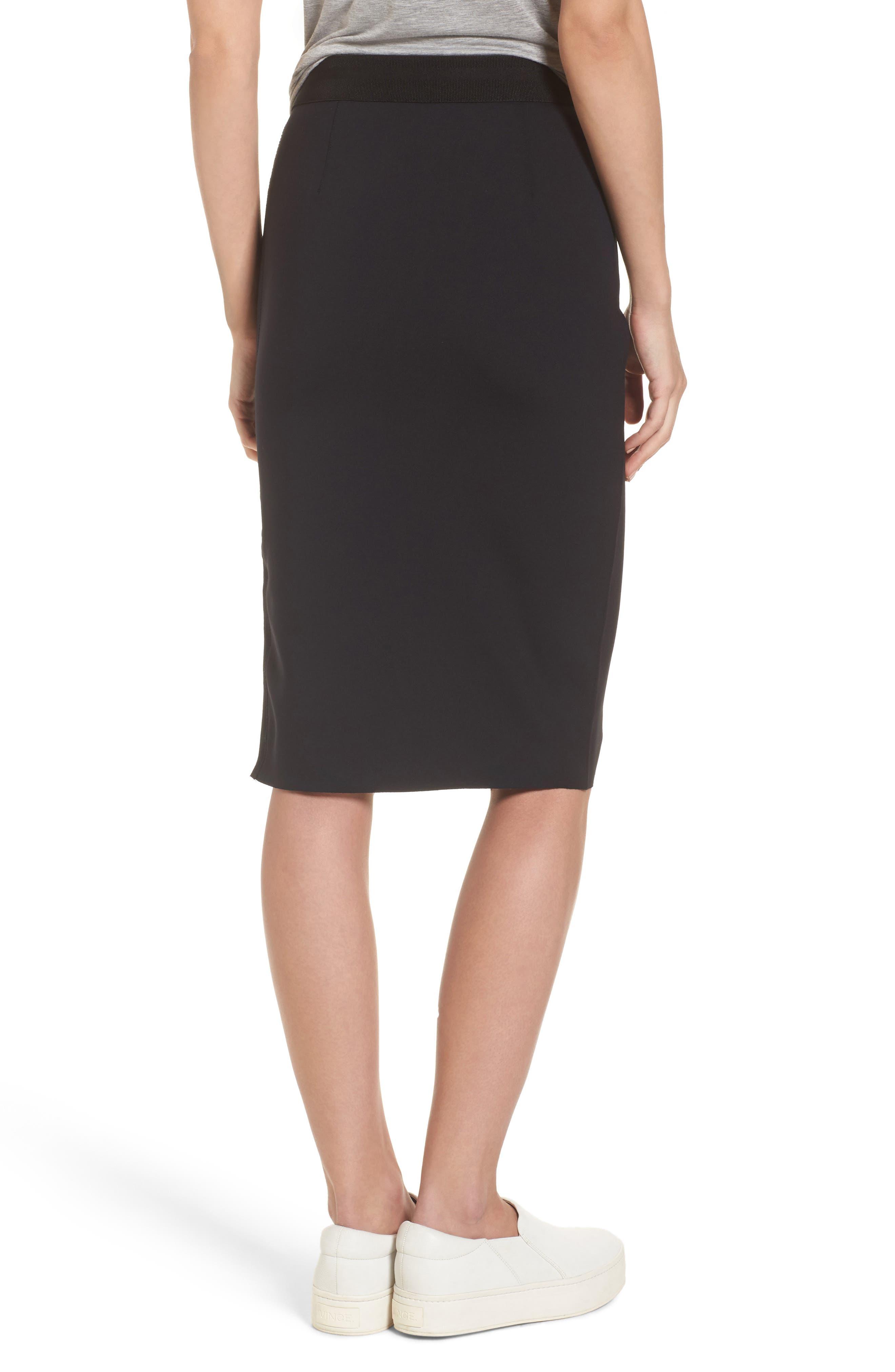 Side Zip Pencil Skirt,                             Alternate thumbnail 2, color,                             001