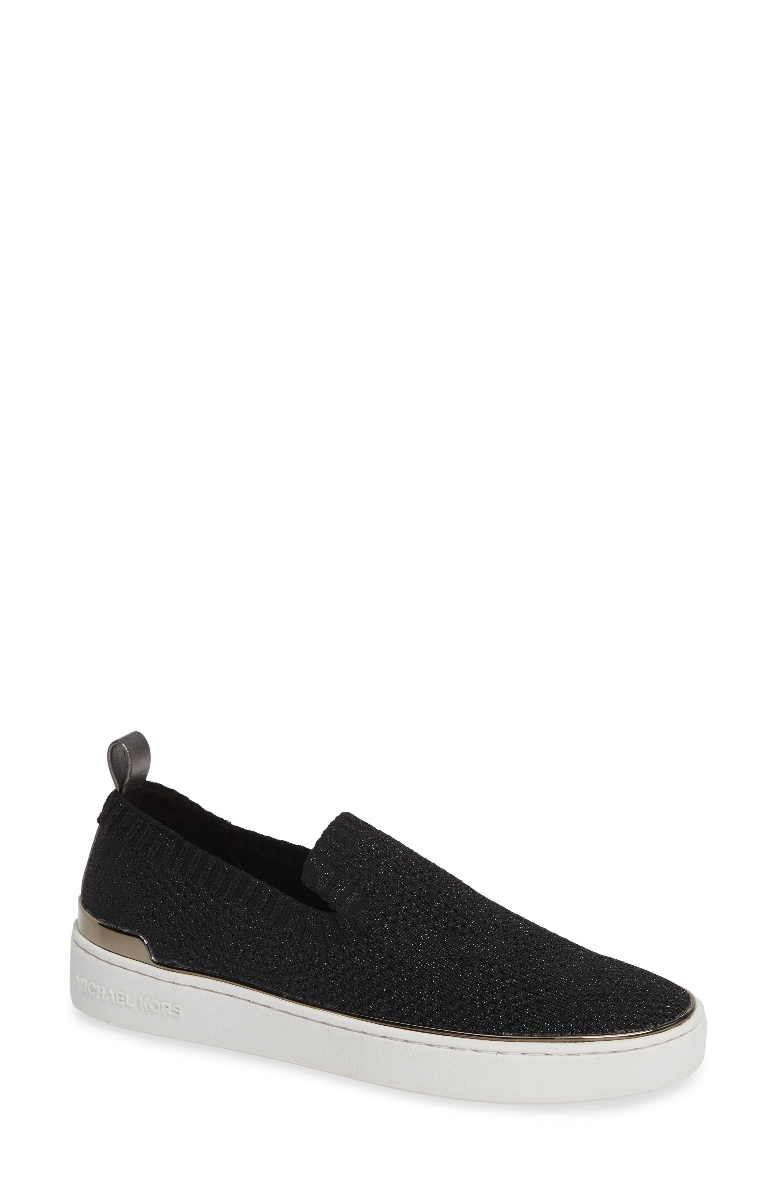MICHAEL MICHAEL KORS,                             Skyler Sneaker,                             Main thumbnail 1, color,                             GUNMETAL FABRIC