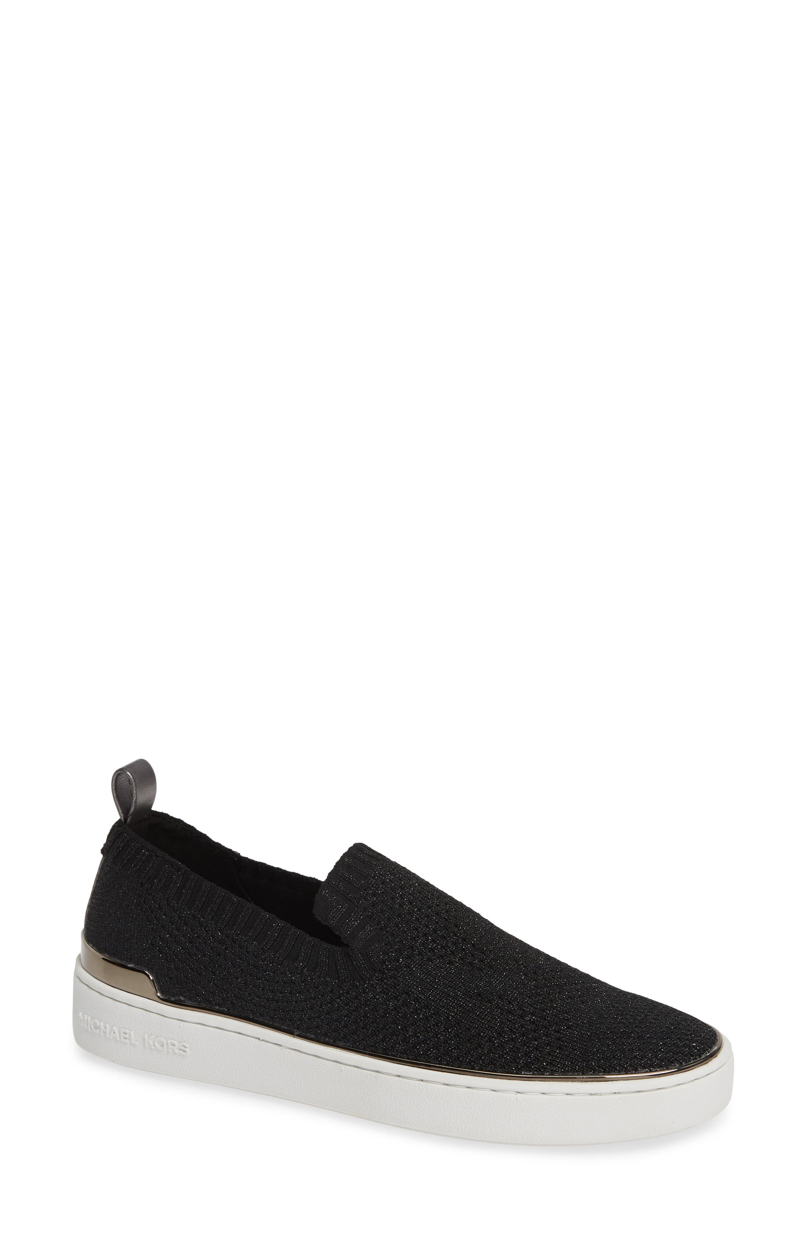 Women'S Skyler Knit Slip-On Sneakers in Gunmetal Fabric