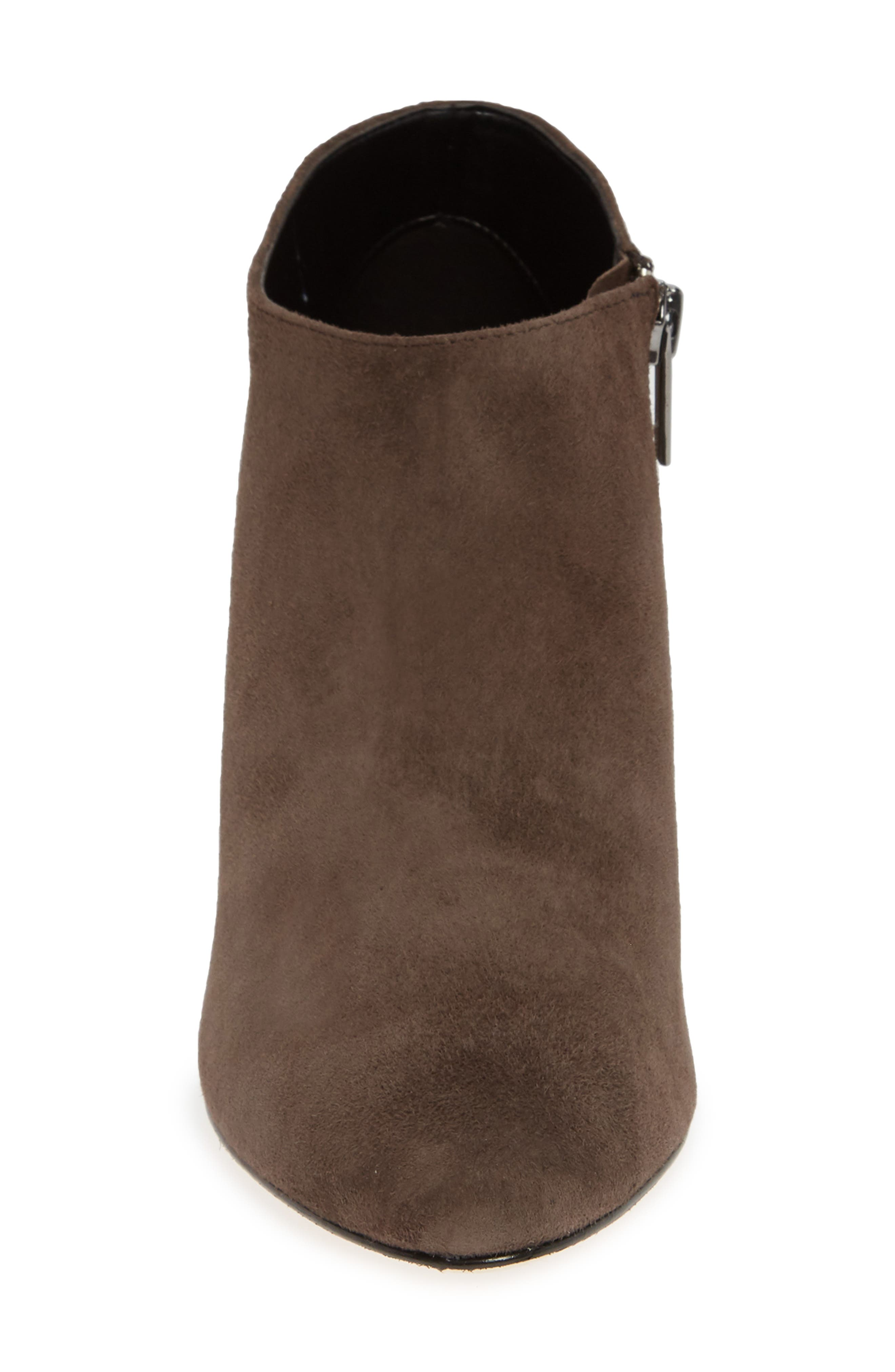 'Yelm' Almond Toe Bootie,                             Alternate thumbnail 4, color,                             MINK SUEDE