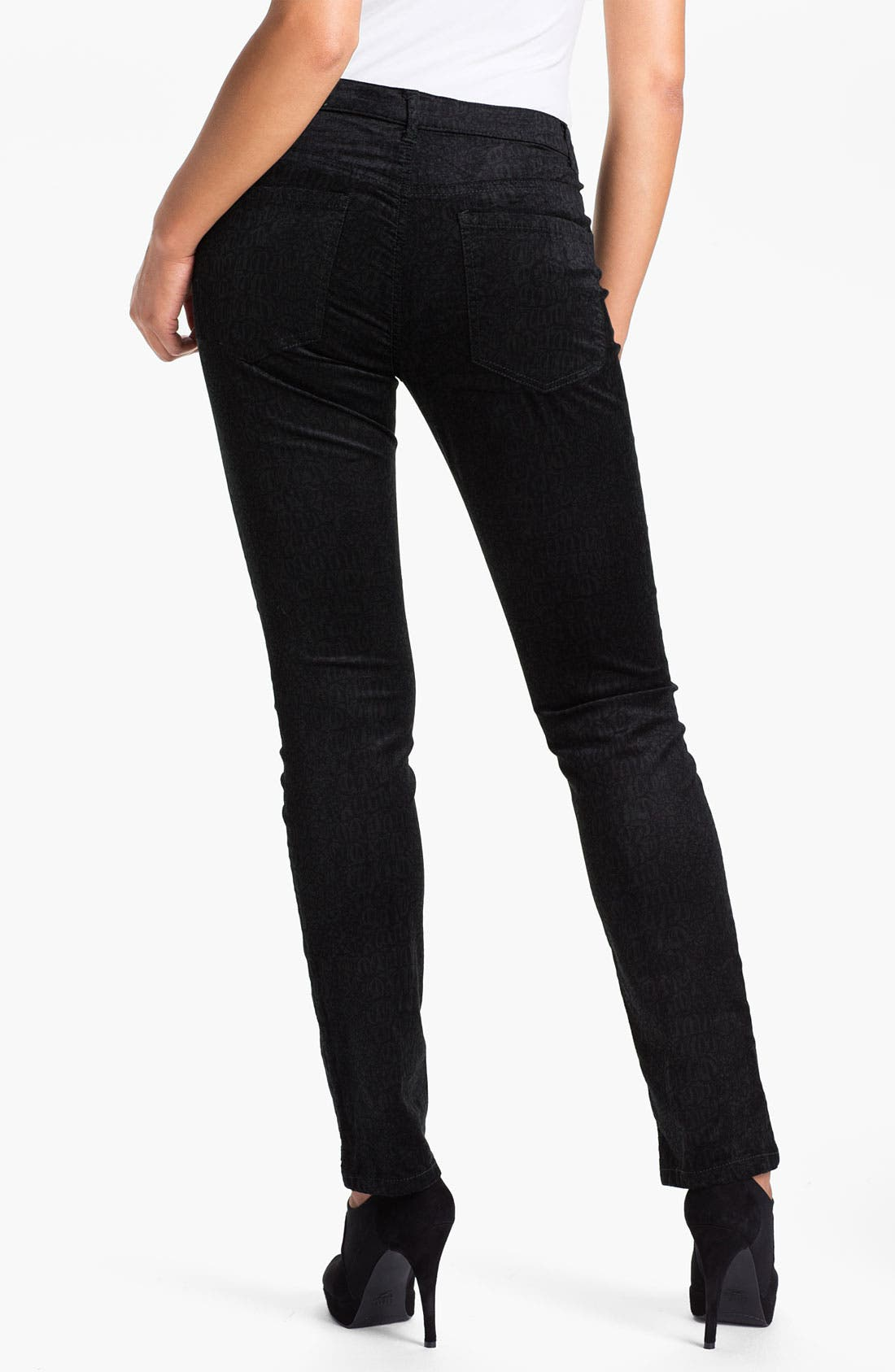 Jeans Company 'Sadie' - Cheetah' Straight Leg Velveteen Jeans,                             Alternate thumbnail 2, color,                             001