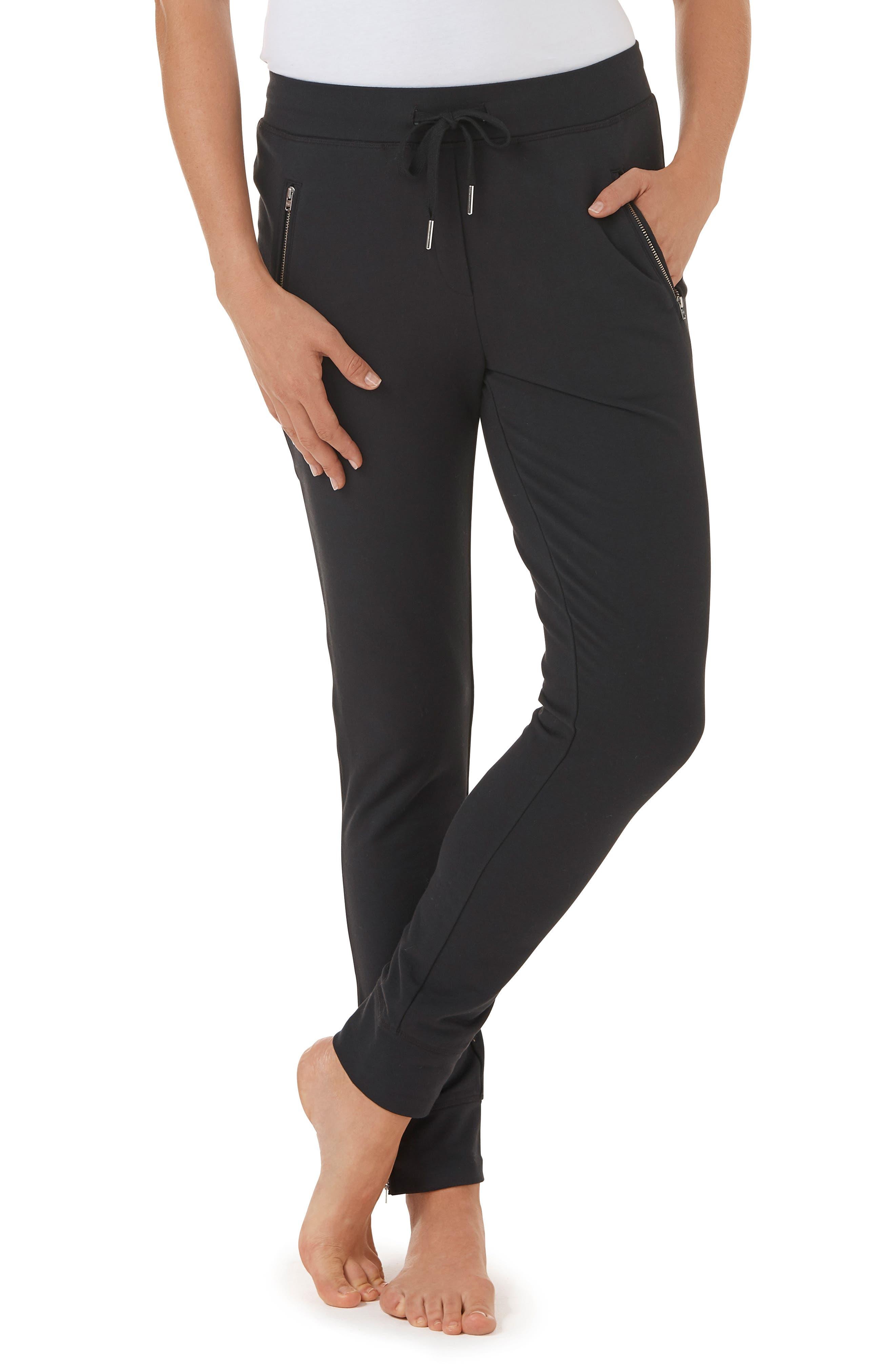 Zip Detail Jogger Pants,                             Main thumbnail 1, color,                             001