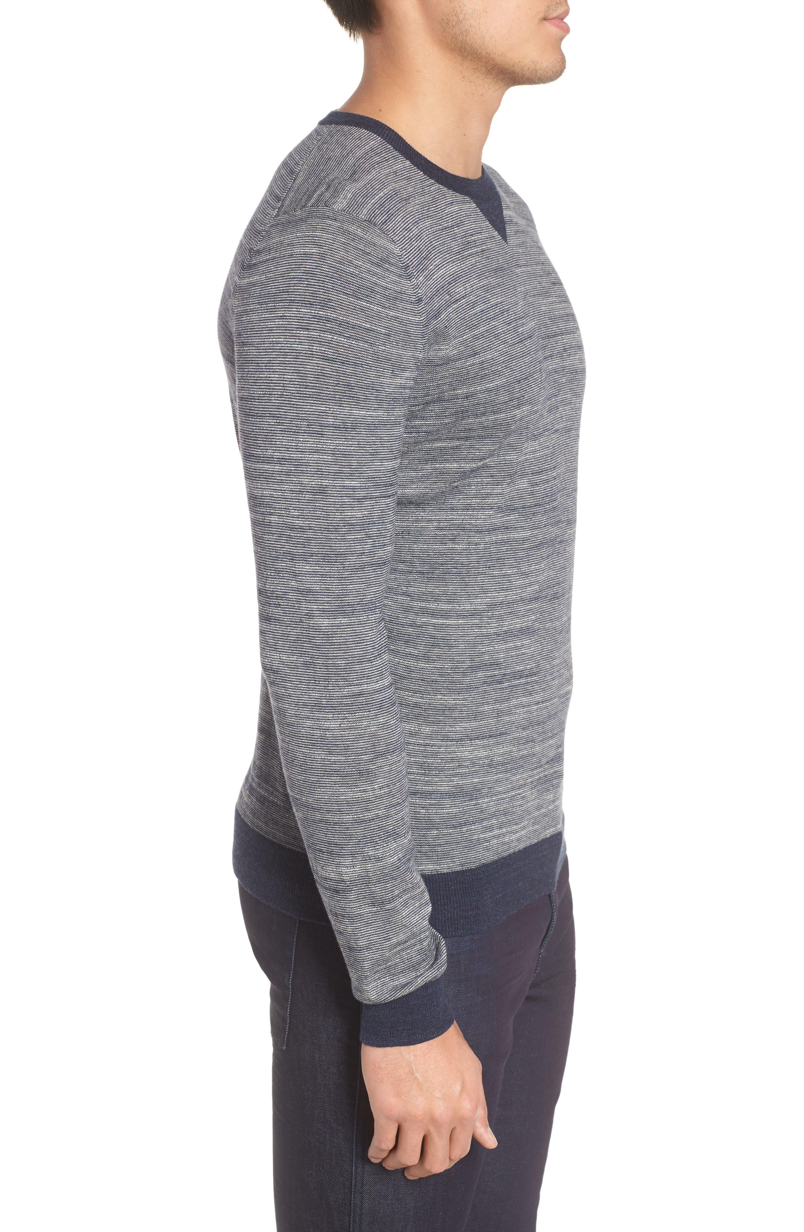 Pintor Slim Fit Fineline Stripe Sweater,                             Alternate thumbnail 6, color,