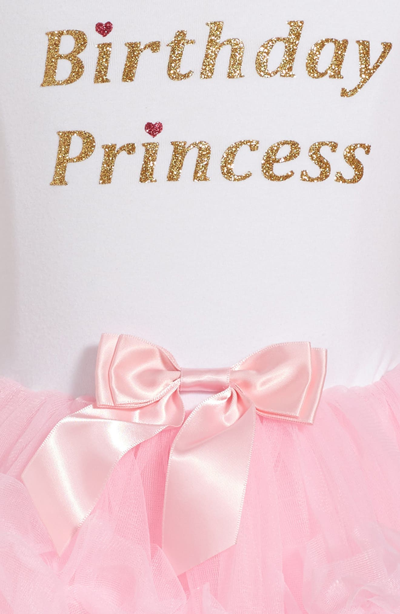 Birthday Princess Tutu Dress,                             Alternate thumbnail 3, color,                             PINK
