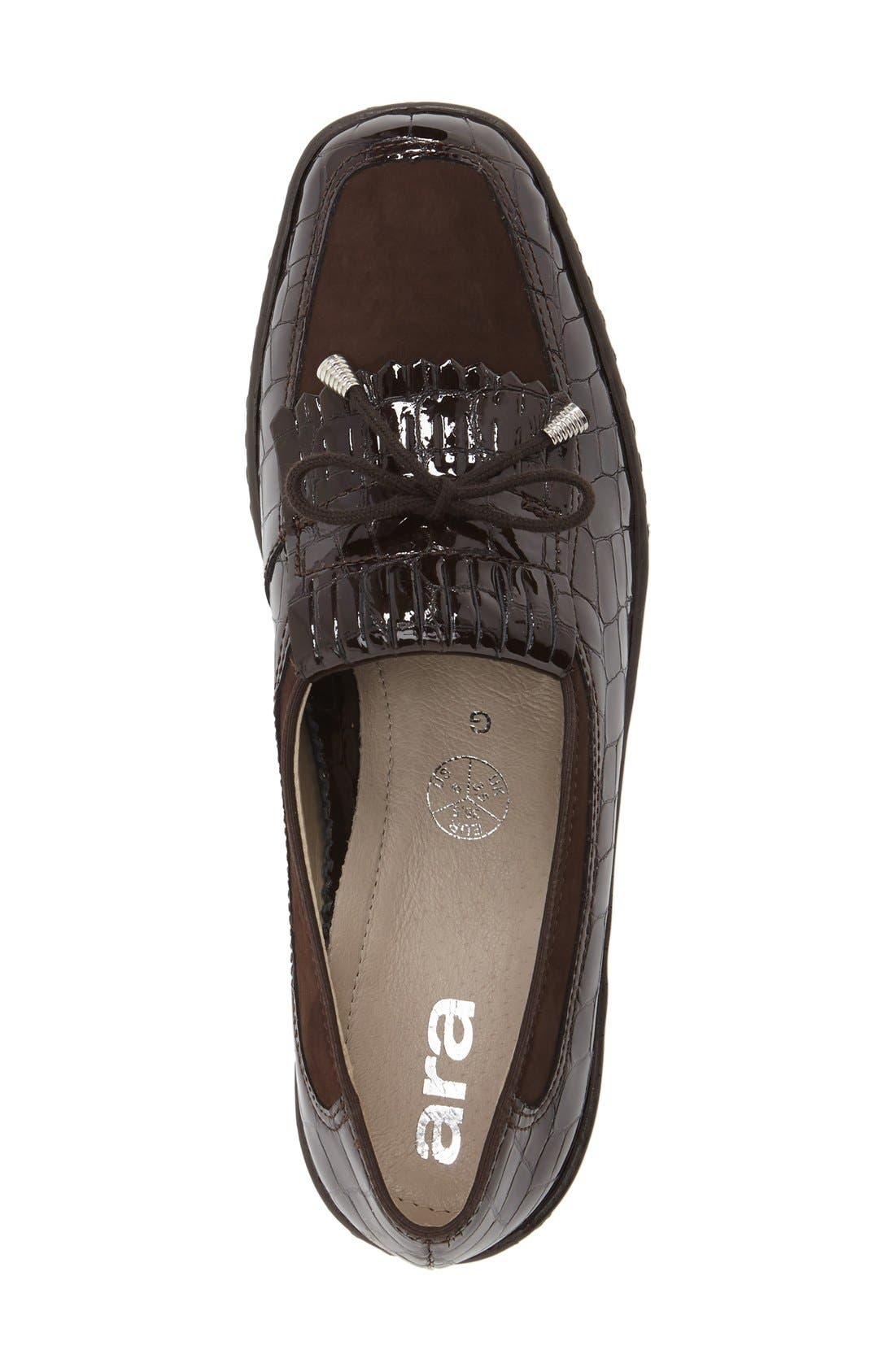 'Rachel' Loafer,                             Alternate thumbnail 4, color,                             BROWN NUBUCK LEATHER
