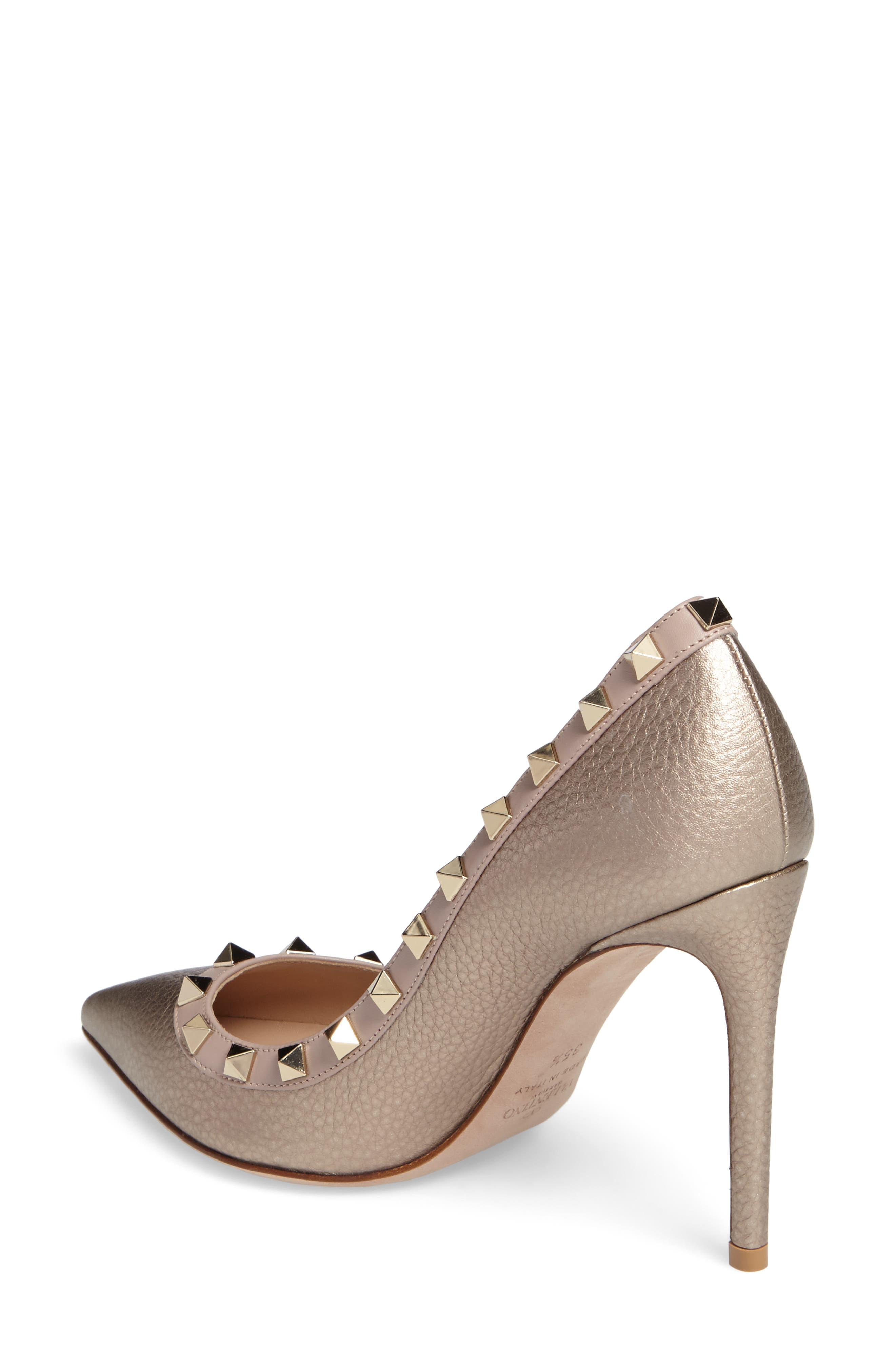 Rockstud Pointy Toe Pump,                             Alternate thumbnail 2, color,                             710