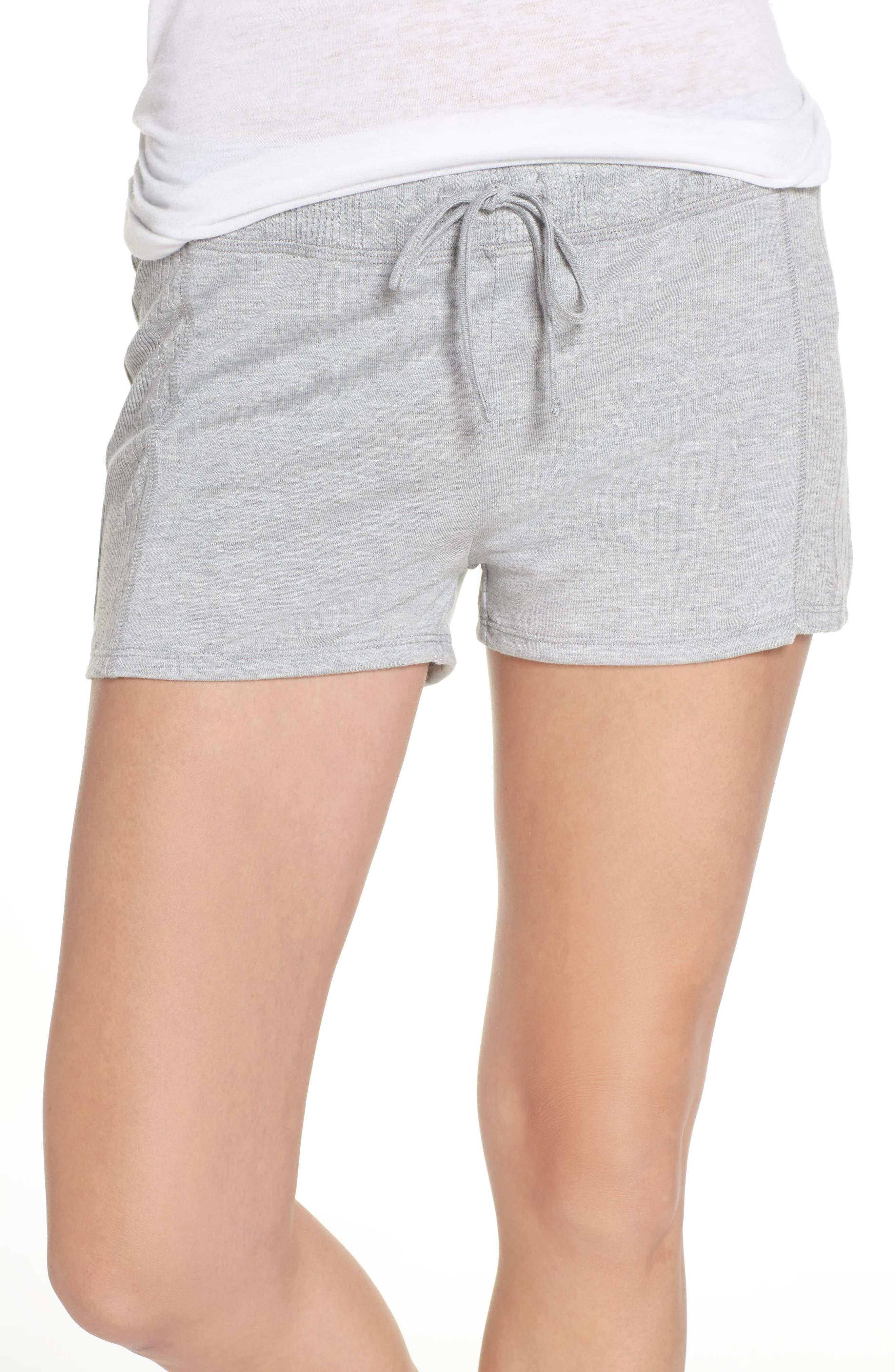 Pajama Shorts,                         Main,                         color, LIGHT HEATHER GREY