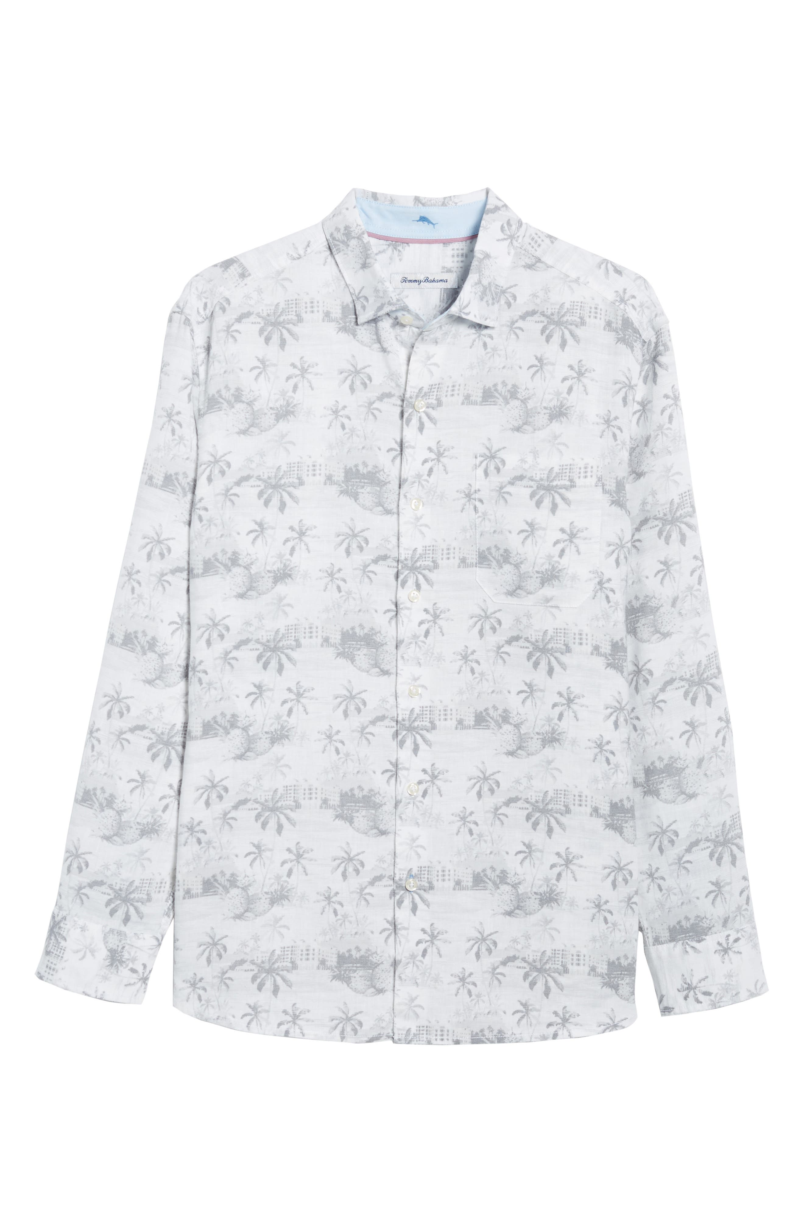 Tropical Toile Sport Shirt,                             Alternate thumbnail 6, color,