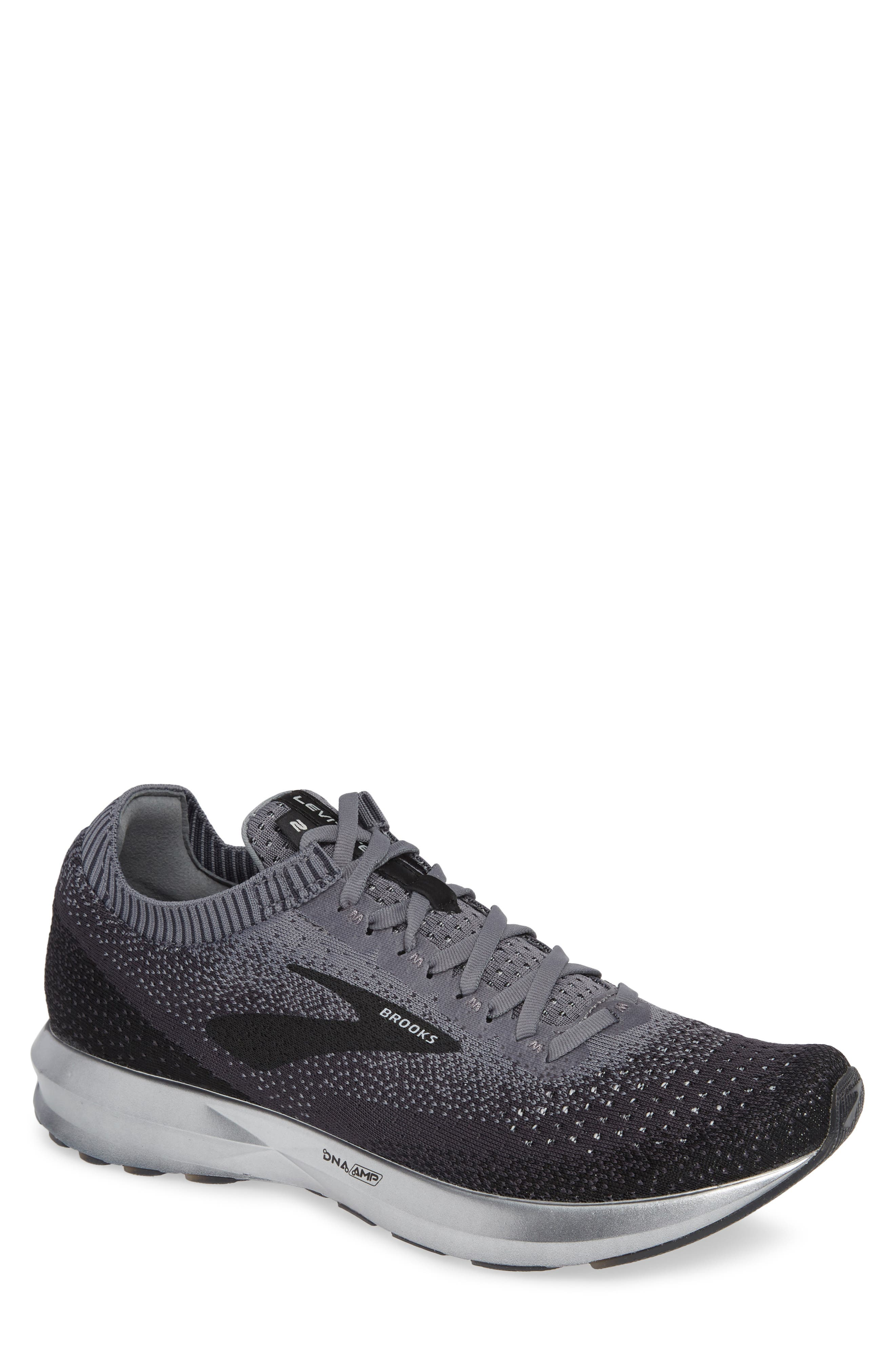 Levitate 2 Running Shoe, Main, color, BLACK/ GREY/ EBONY