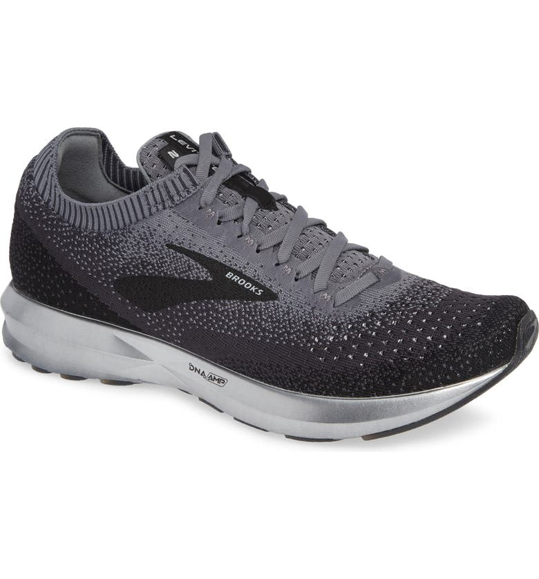 ea1213589a9 Brooks Men S Levitate 2 Running Sneakers From Finish Line In Black Grey  Ebony