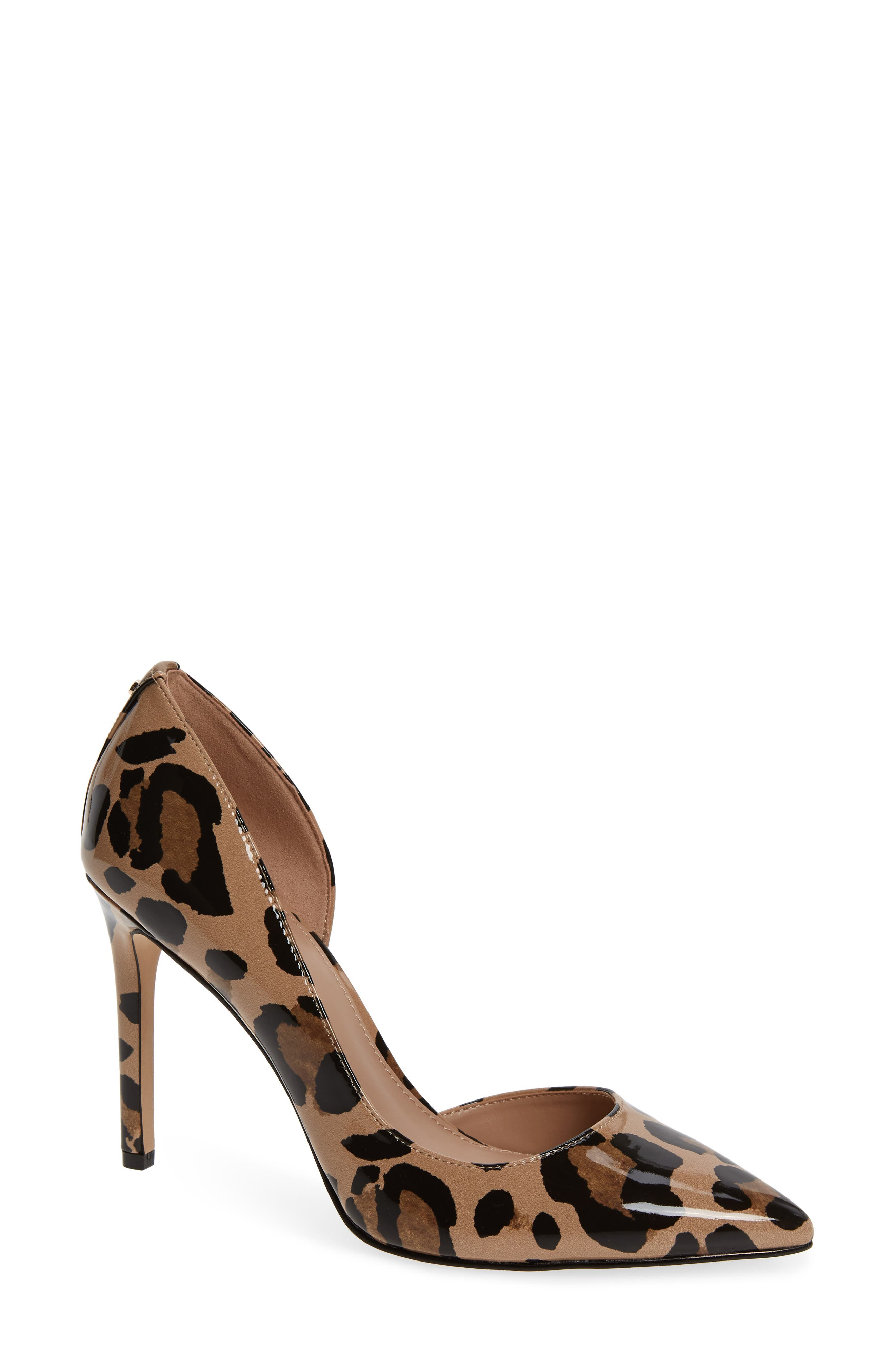BCBG Lenny Half D'Orsay Pump in Brown Multi Patent Leather