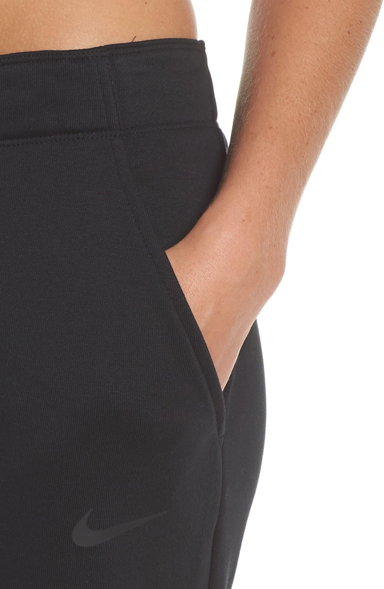 Tapered Training Pants,                             Alternate thumbnail 4, color,                             BLACK/ BLACK