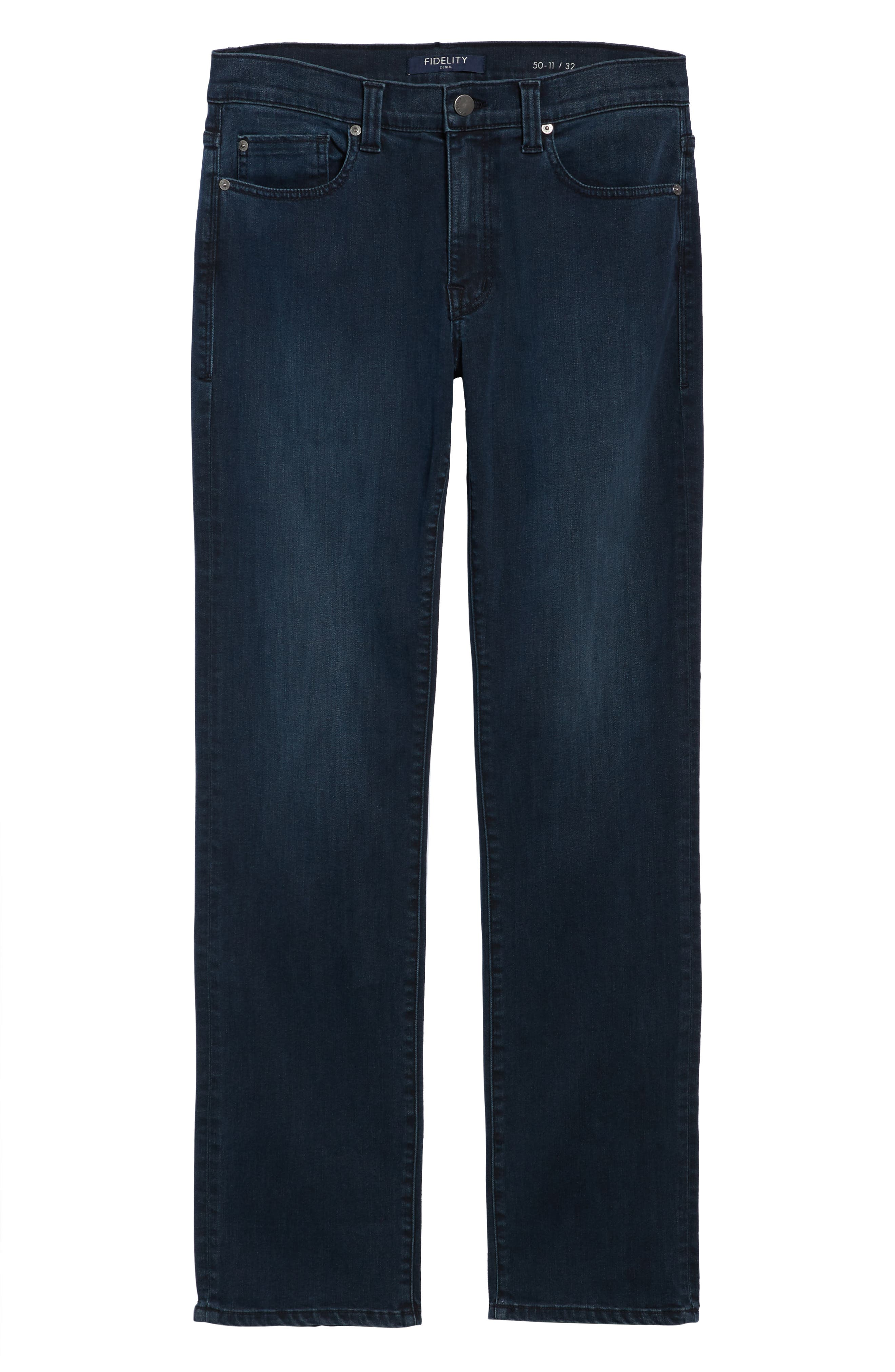 50-11 Relaxed Fit Jeans,                             Alternate thumbnail 6, color,                             MILLI BLUE