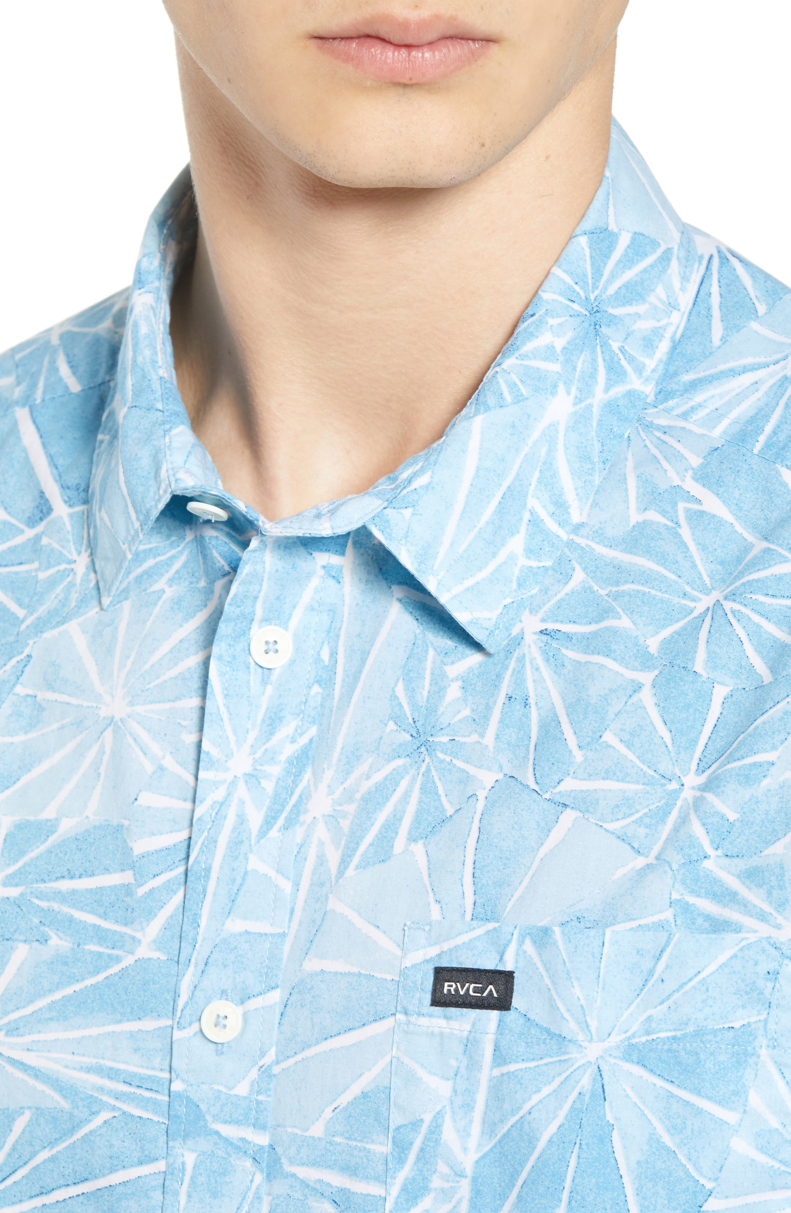 Blade Woven Shirt,                             Alternate thumbnail 4, color,                             DUSTY BLUE