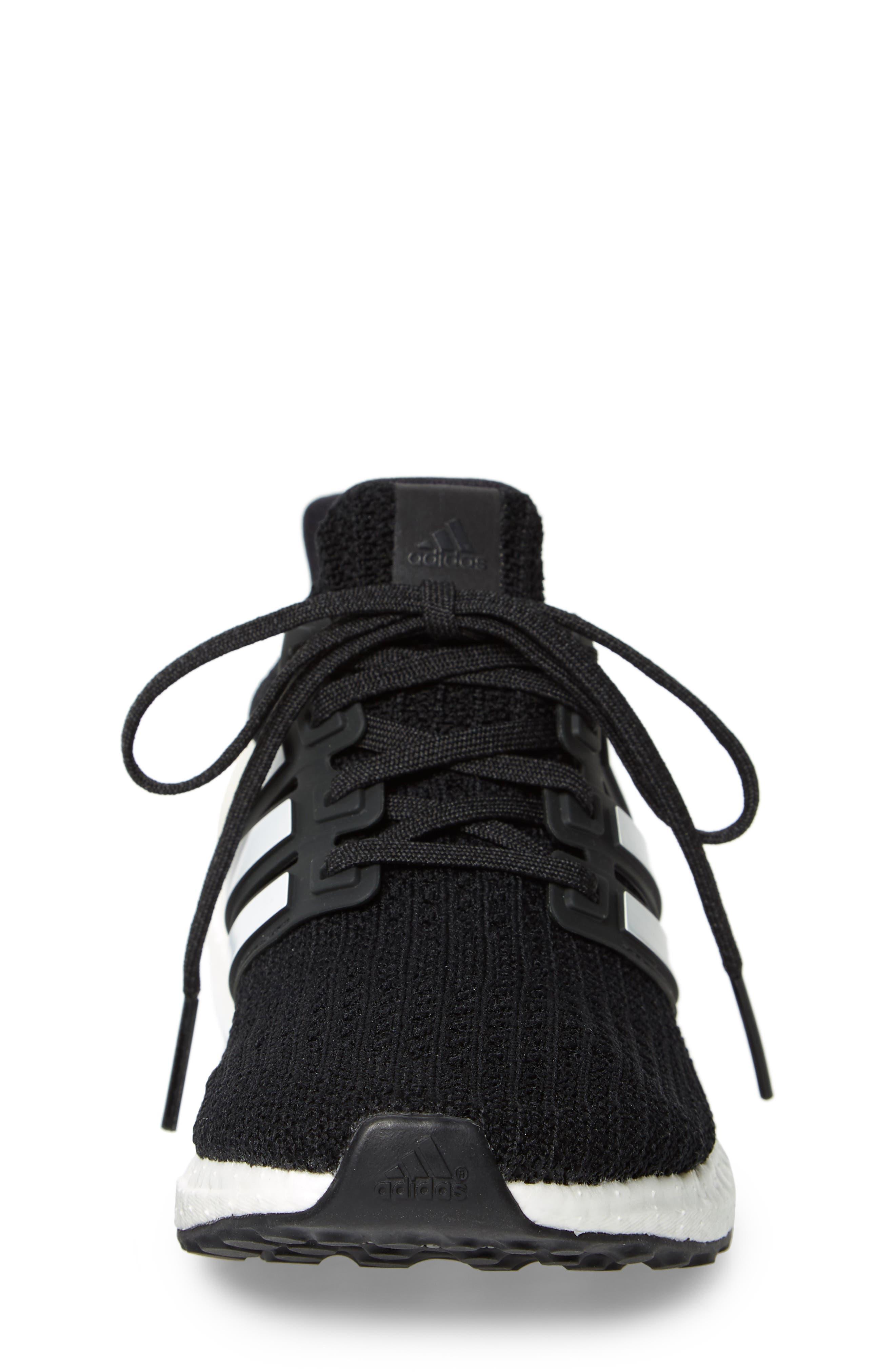 UltraBoost Sneaker,                             Alternate thumbnail 4, color,                             BLACK/ CLOUD WHITE/ CARBON