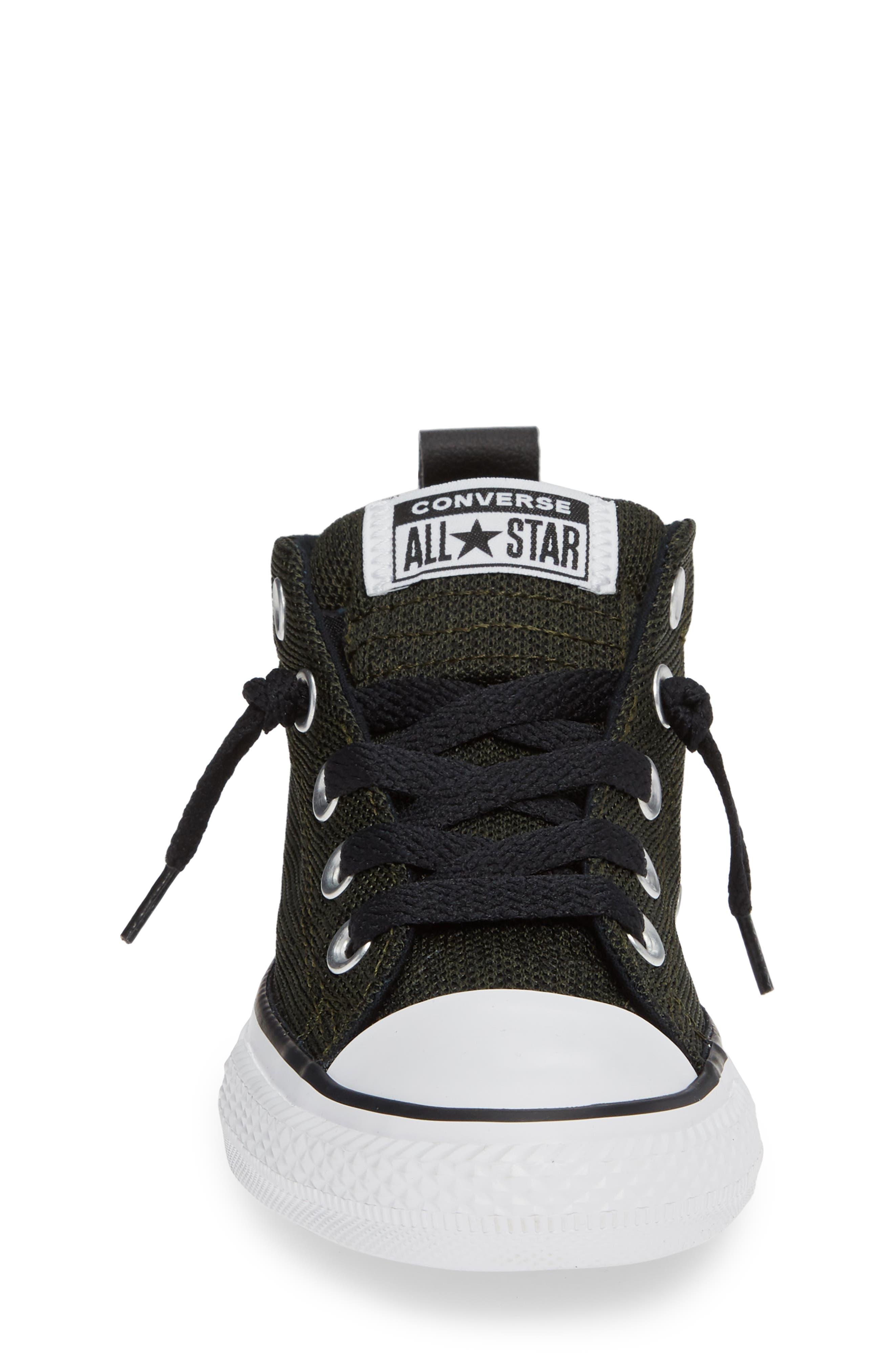 Varsity Street Mid Rise Slip-On Sneaker,                             Alternate thumbnail 4, color,                             GREEN