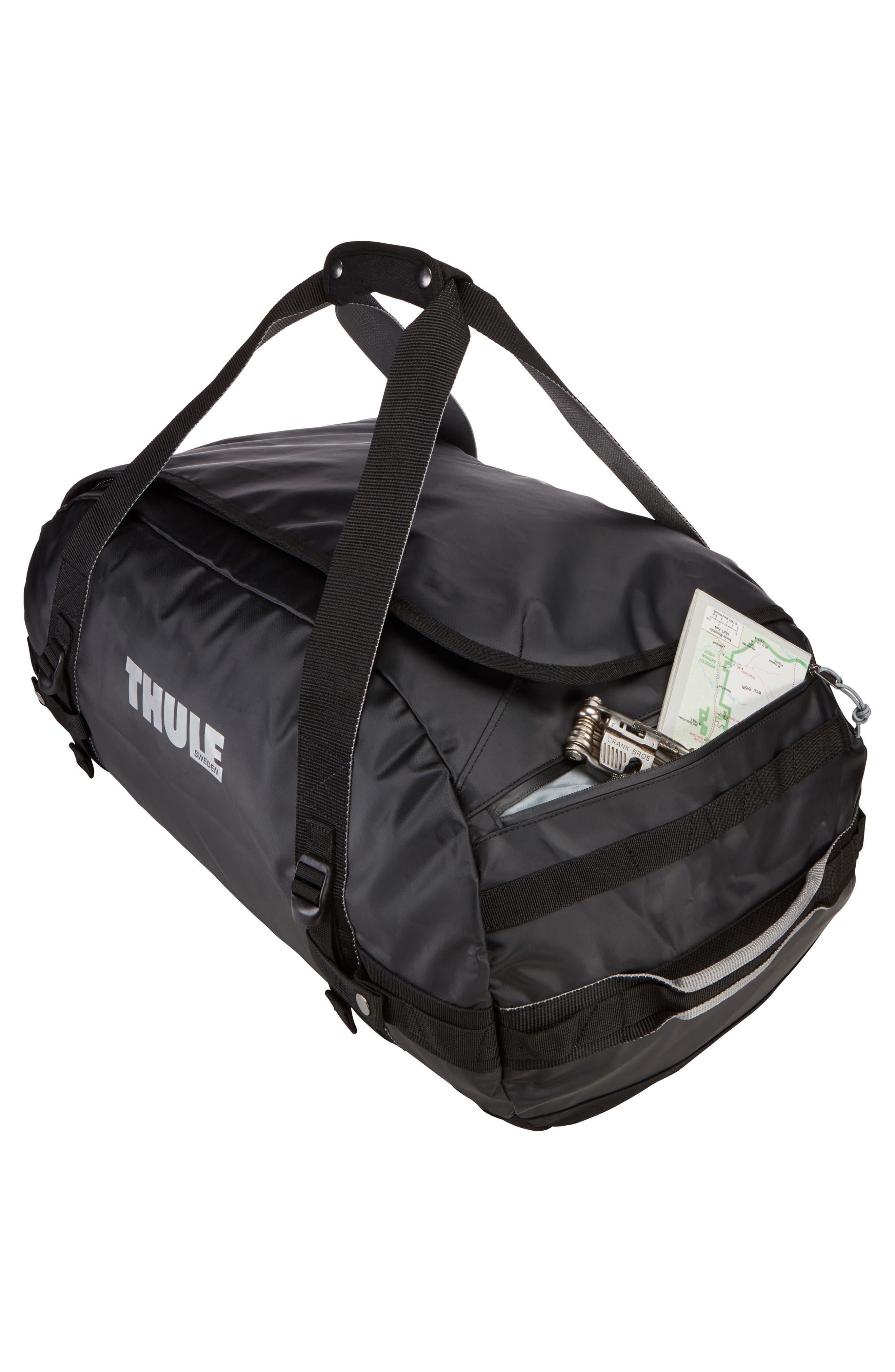 Chasm 130-Liter Convertible Duffel Bag,                             Alternate thumbnail 6, color,                             BLACK
