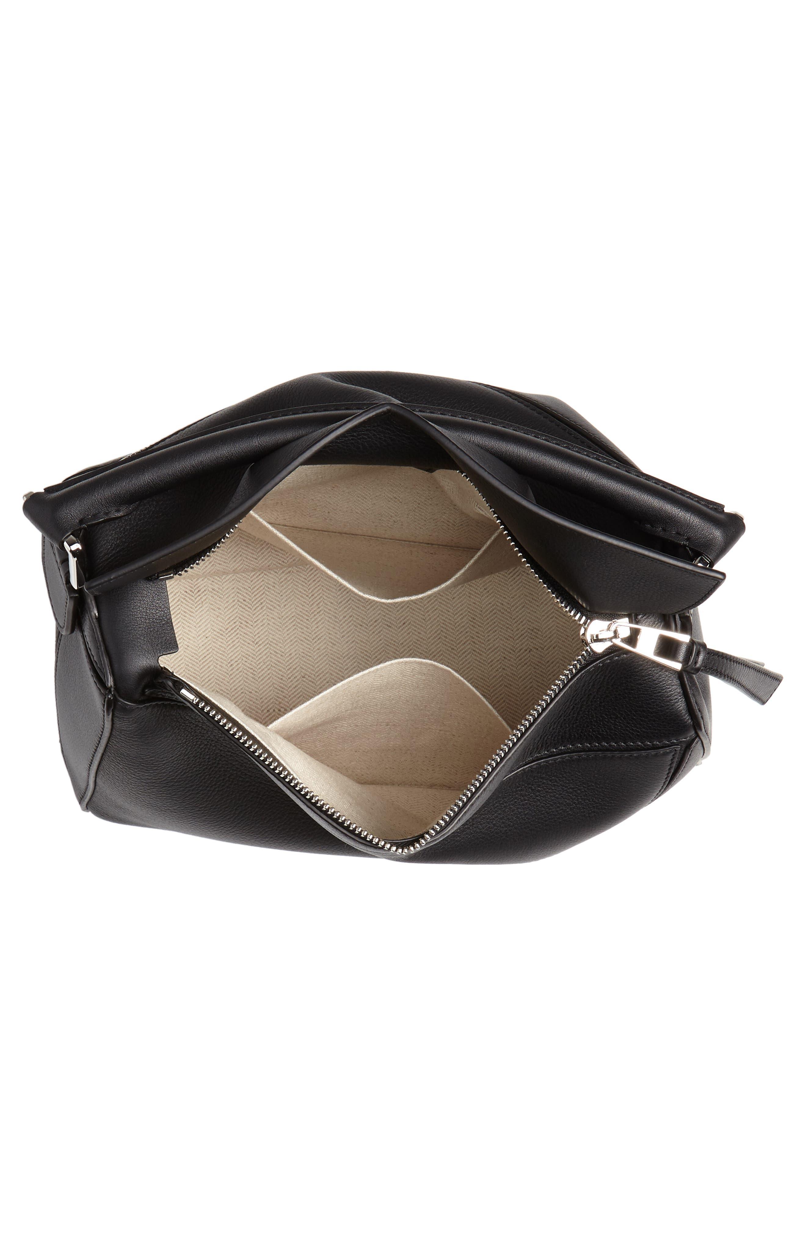Small Puzzle Shoulder Bag,                             Alternate thumbnail 4, color,                             BLACK