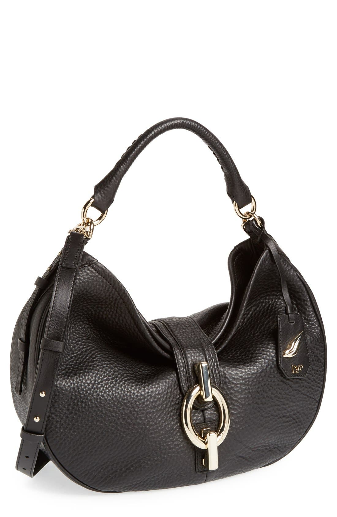 'Sutra' Leather Hobo, Main, color, 001