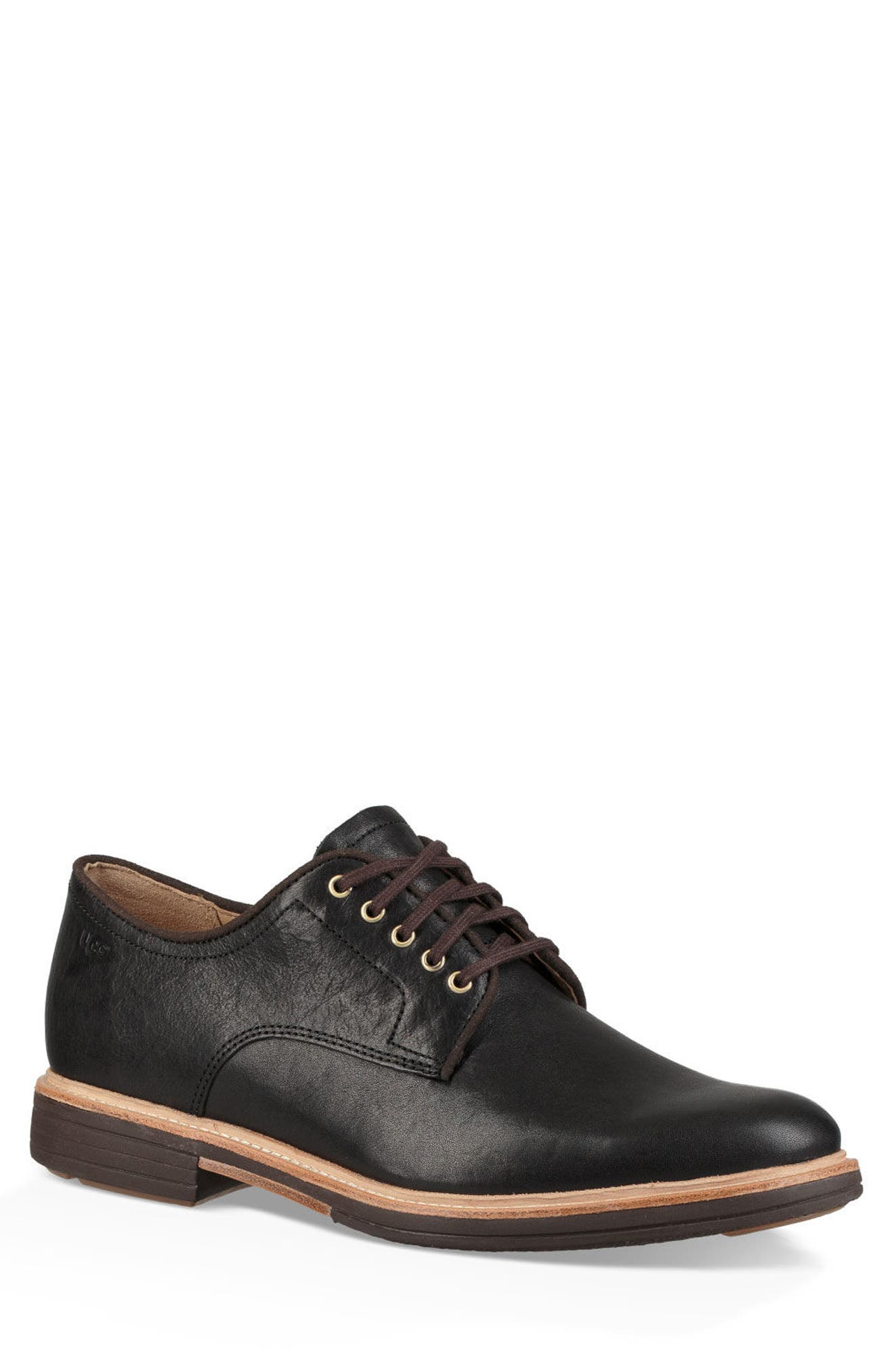 Jovin Buck Shoe,                         Main,                         color, BLACK LEATHER/SUEDE