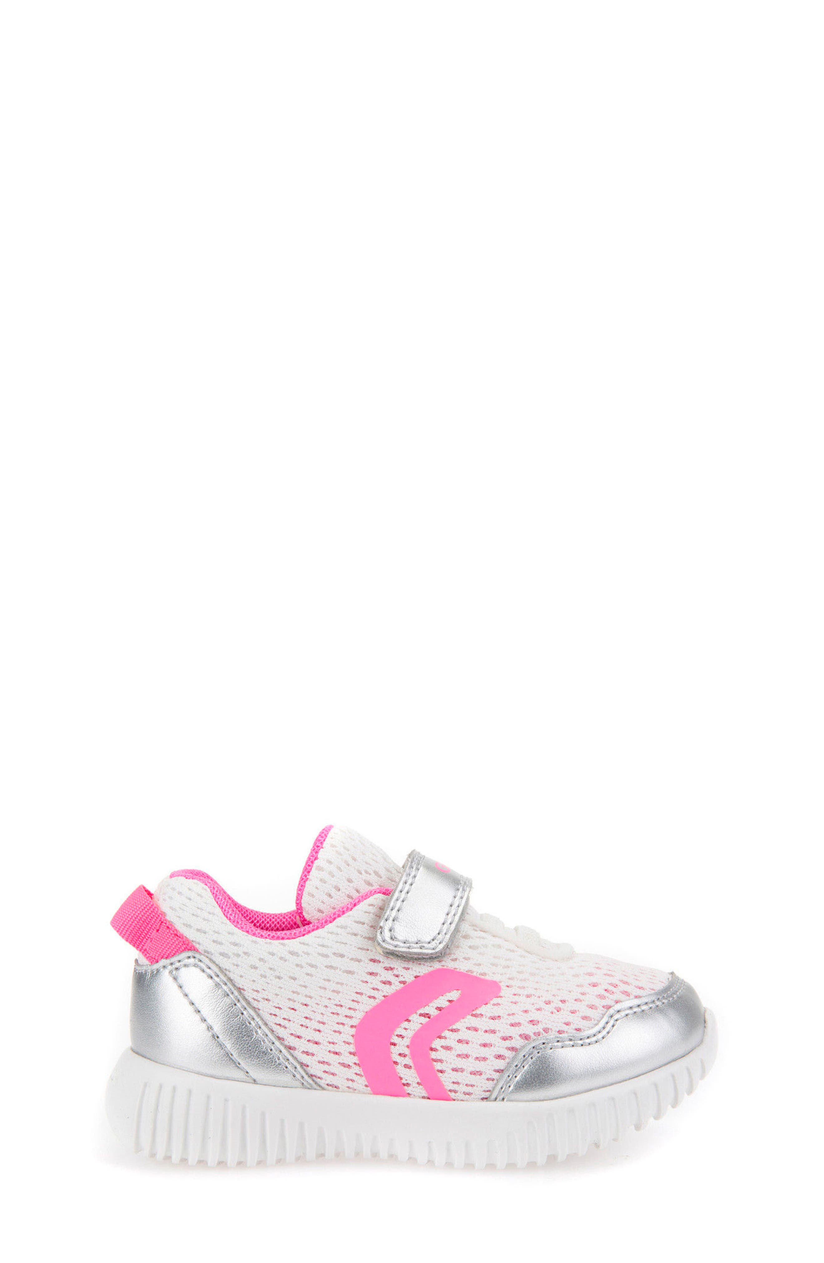 Waviness Sneaker,                             Alternate thumbnail 3, color,                             WHITE/ SILVER