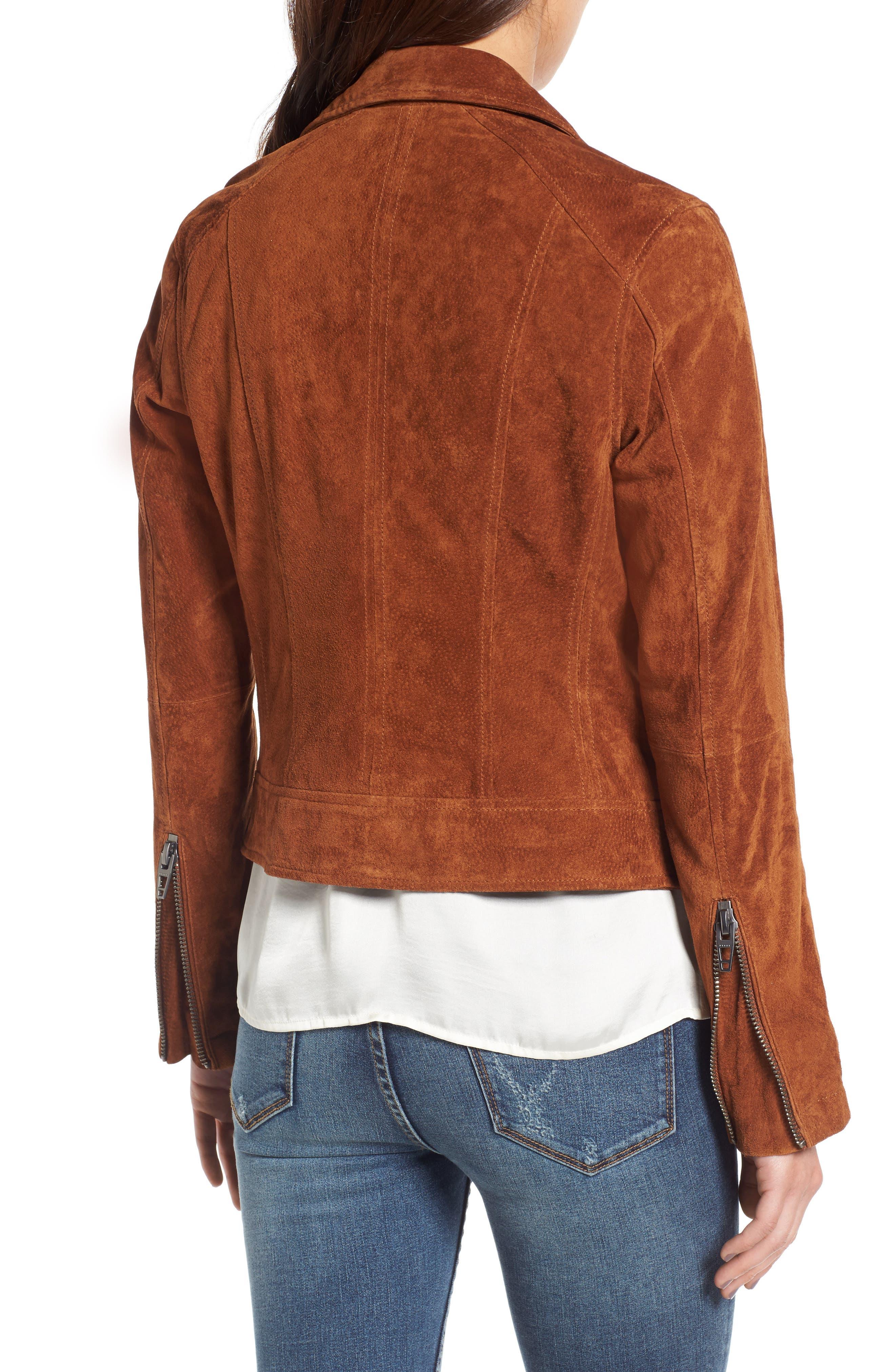 Suede Moto Jacket,                             Alternate thumbnail 16, color,