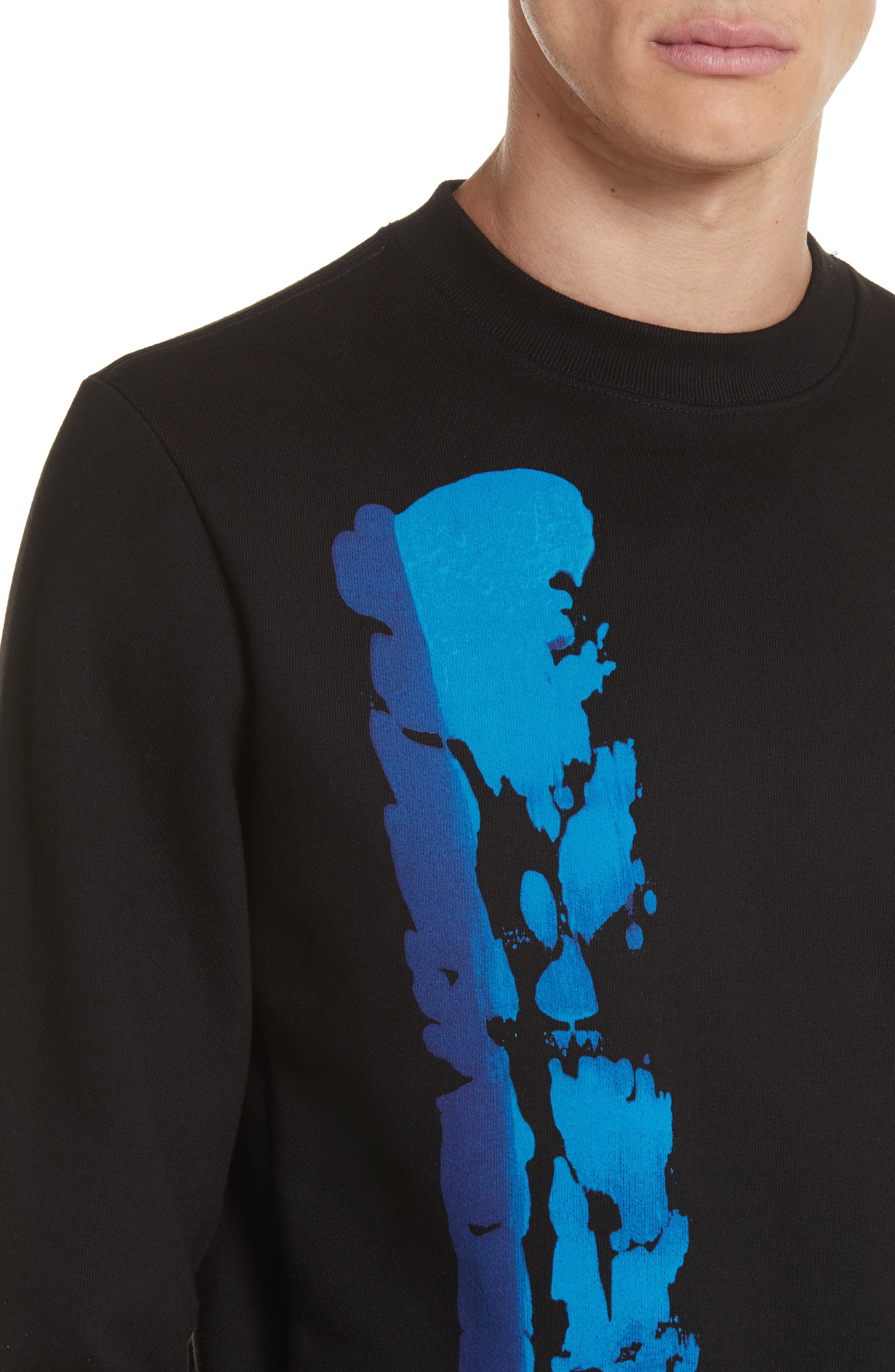 Abstract Brush Graphic Sweatshirt,                             Alternate thumbnail 4, color,                             001