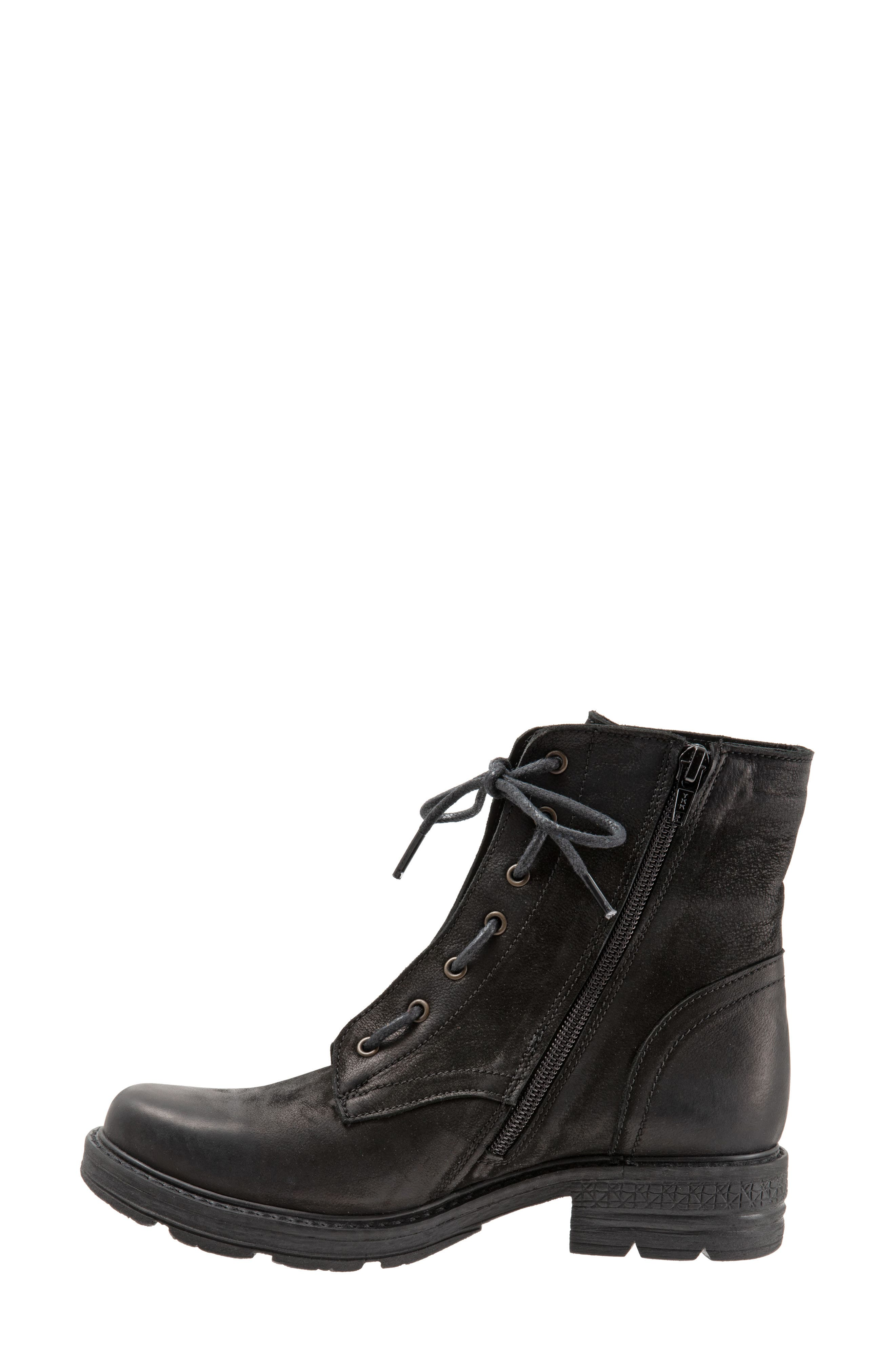 Getty Military Boot,                             Alternate thumbnail 8, color,                             BLACK NATURAL LEATHER