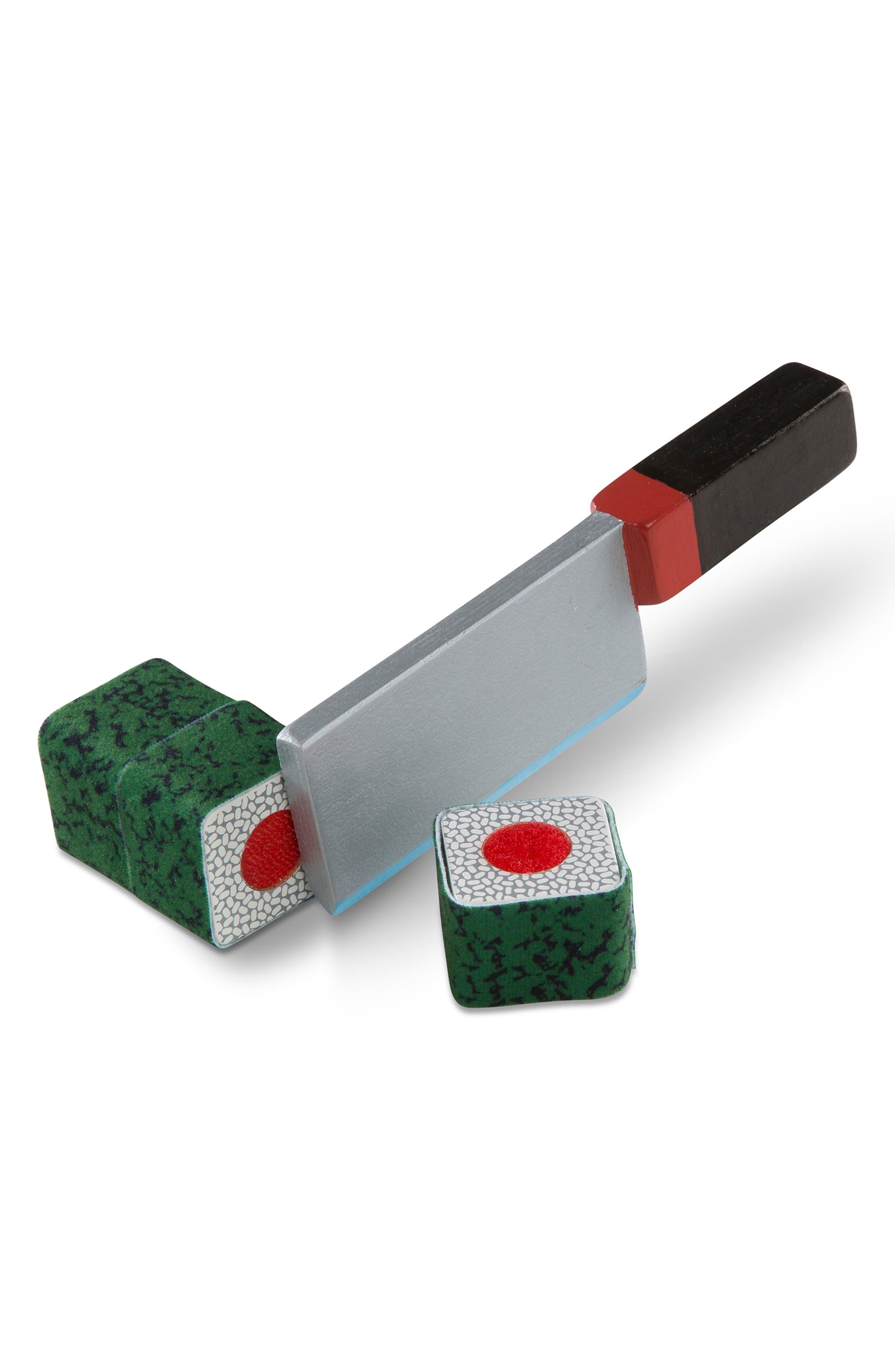 46-Piece Roll Wrap Slice Sushi Making Play Set,                             Alternate thumbnail 3, color,                             MULTI