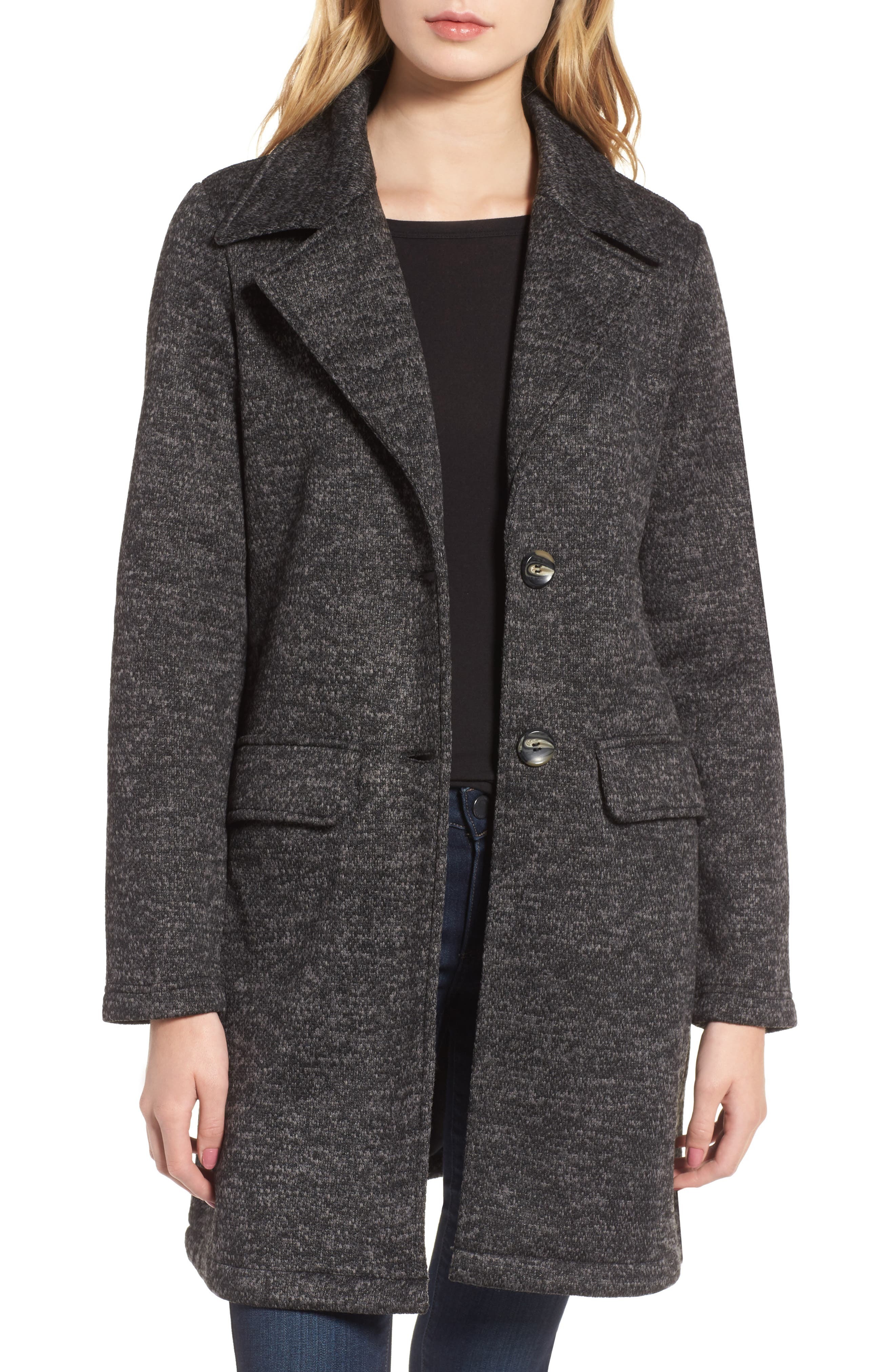 Belted Fleece Jacket,                             Main thumbnail 1, color,                             021