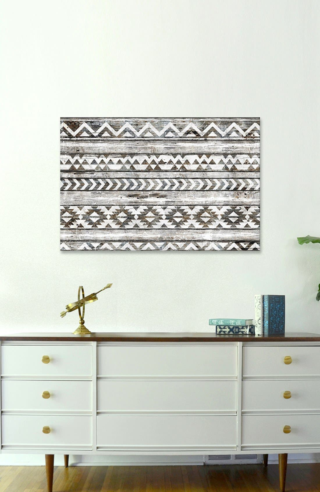 Geometric Giclée Print Canvas Art,                             Alternate thumbnail 2, color,                             BLACK