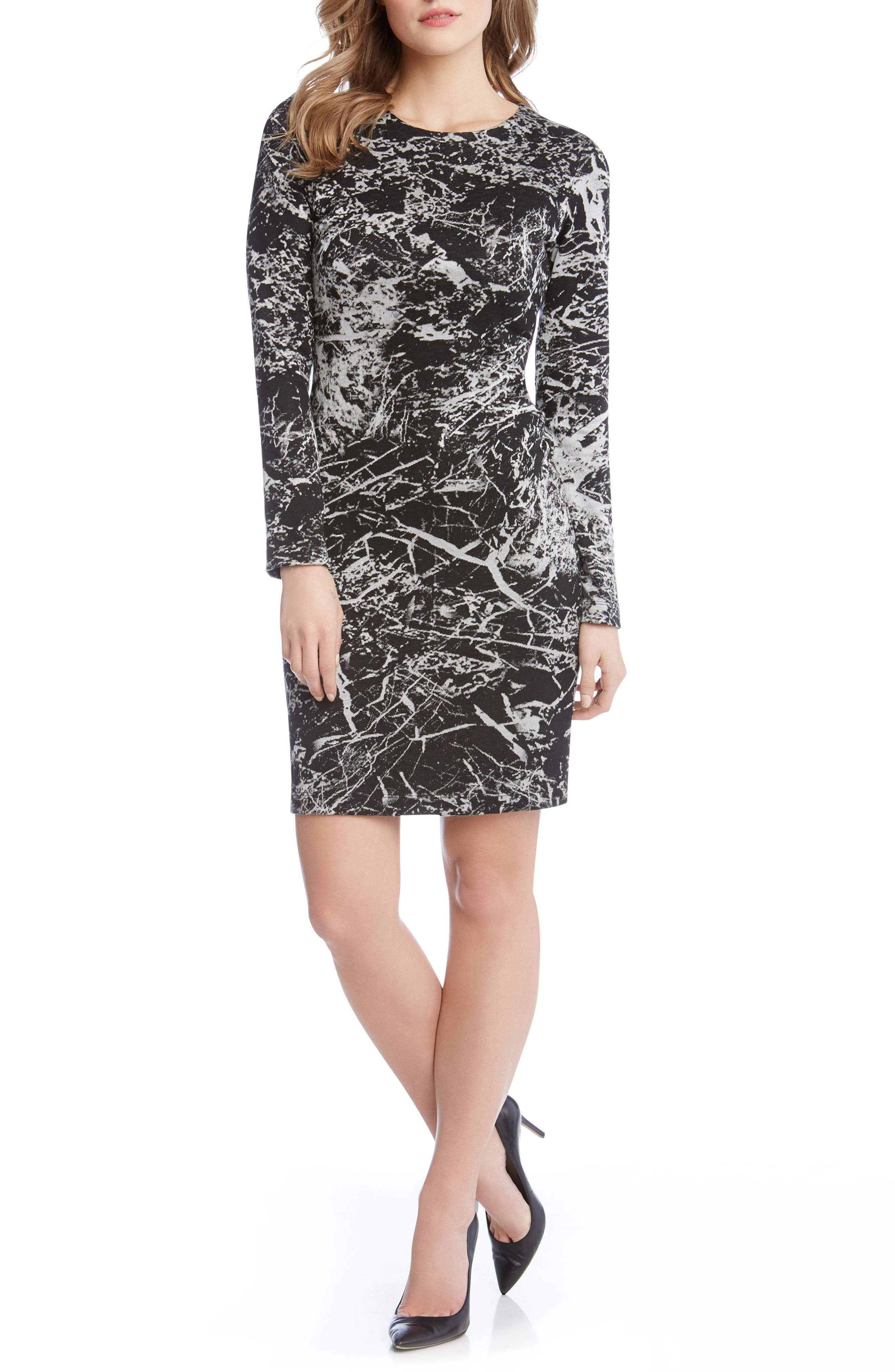 Granite Print Dress,                         Main,                         color,