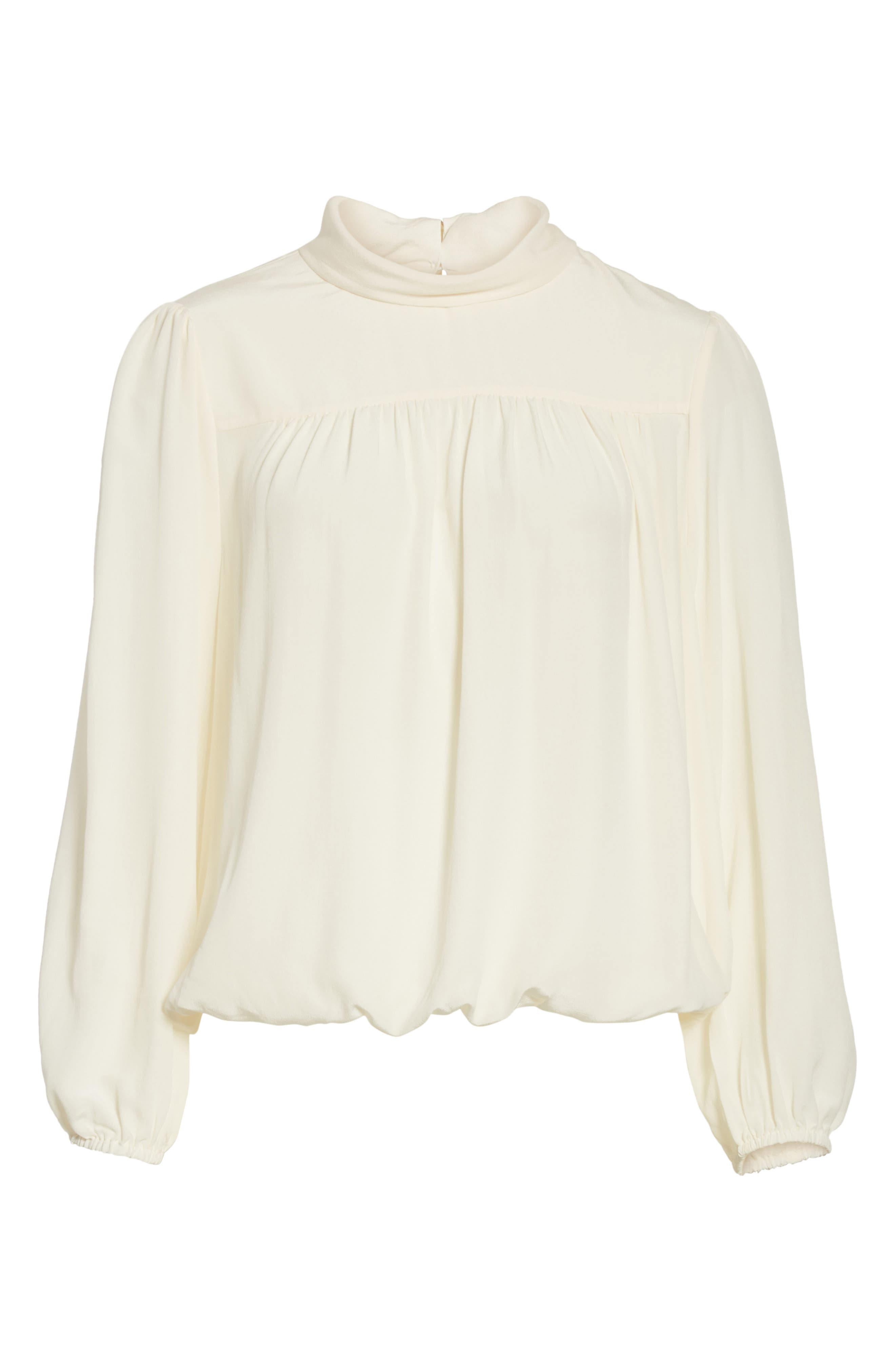 Lively Silk Top,                             Alternate thumbnail 6, color,