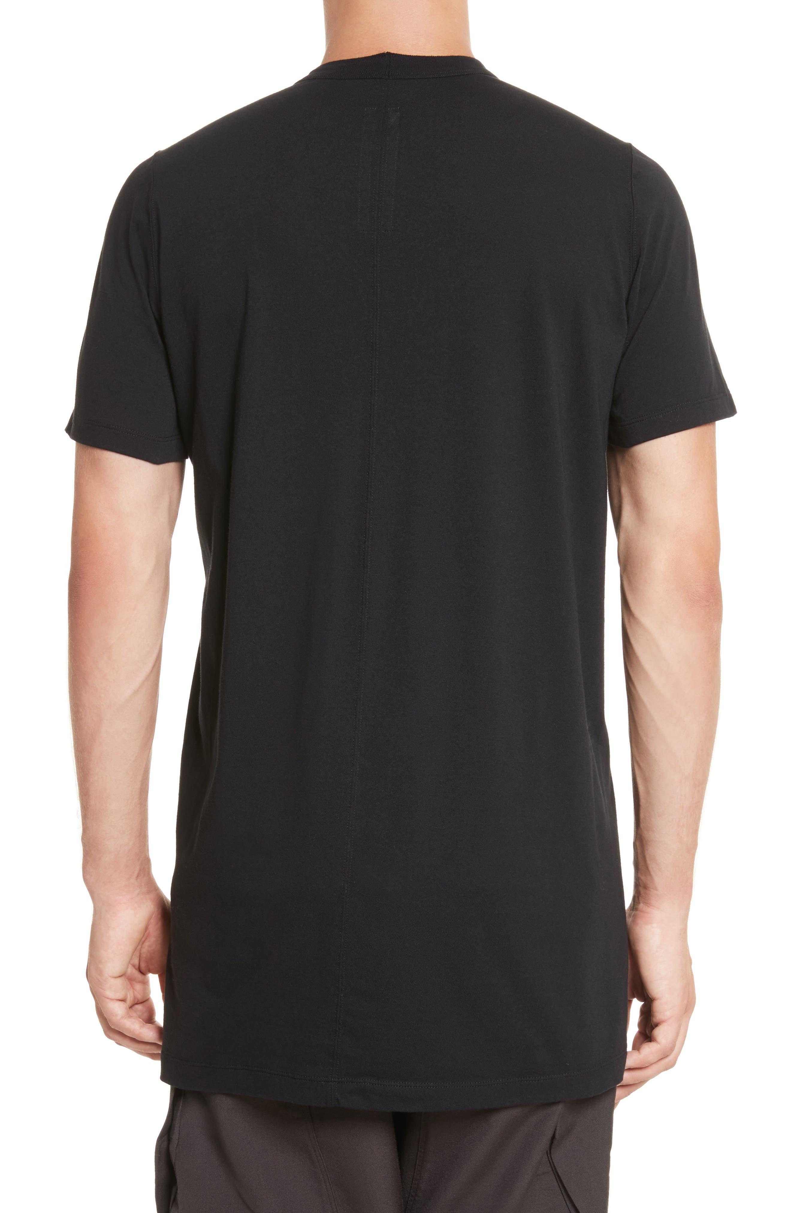 Elongated T-Shirt,                             Alternate thumbnail 2, color,                             009