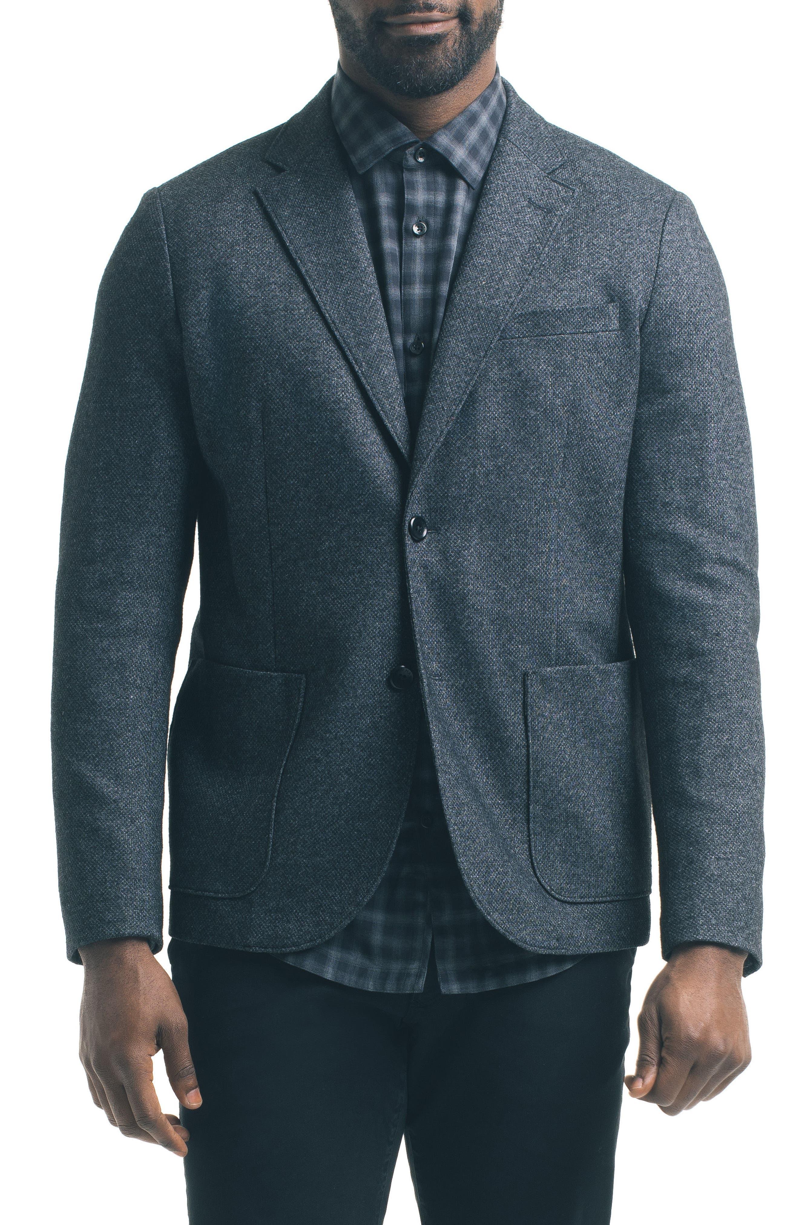 Slim Fit Knit Blazer,                             Main thumbnail 1, color,