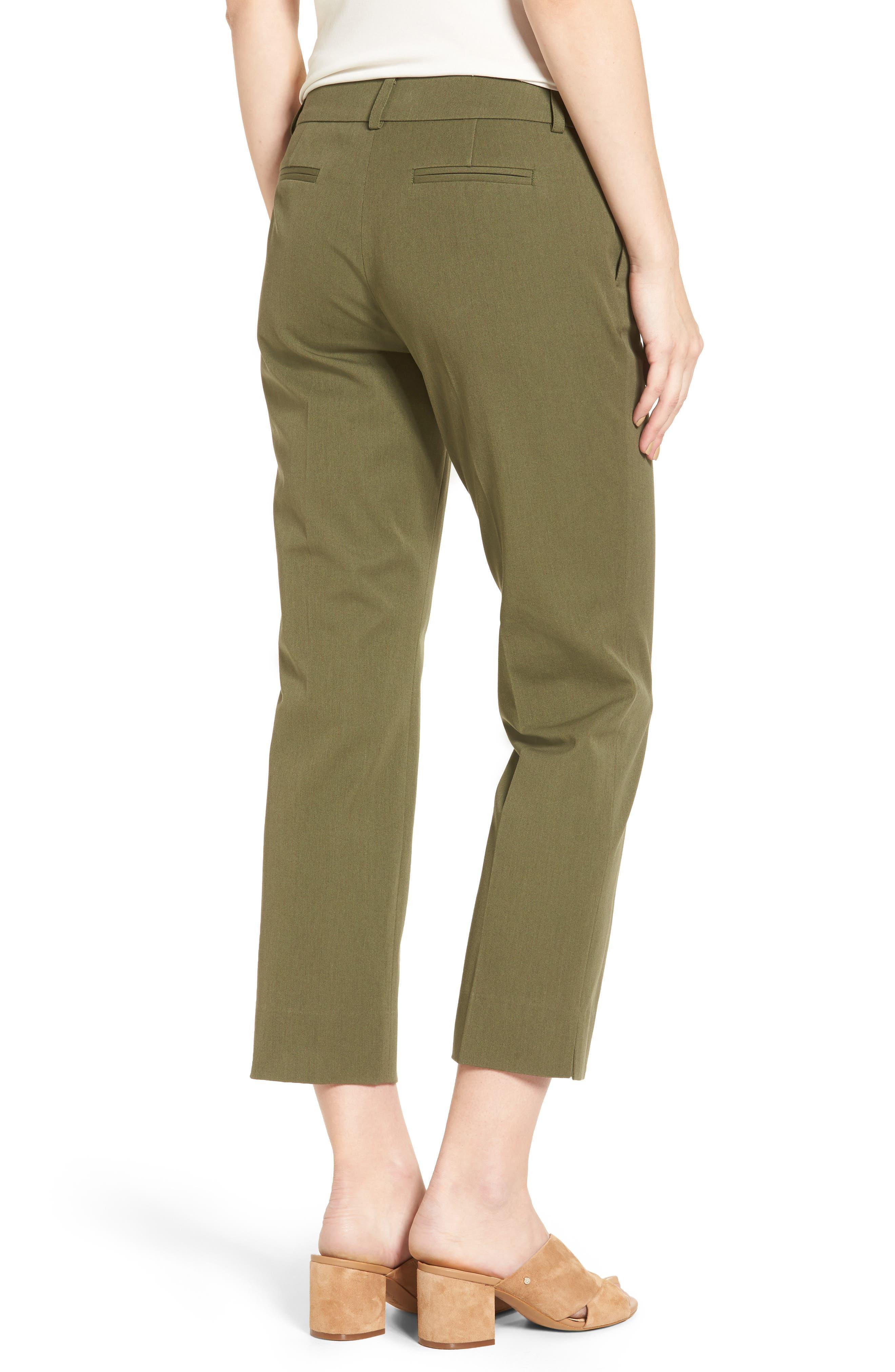 Crop Stretch Cotton Pants,                             Alternate thumbnail 33, color,