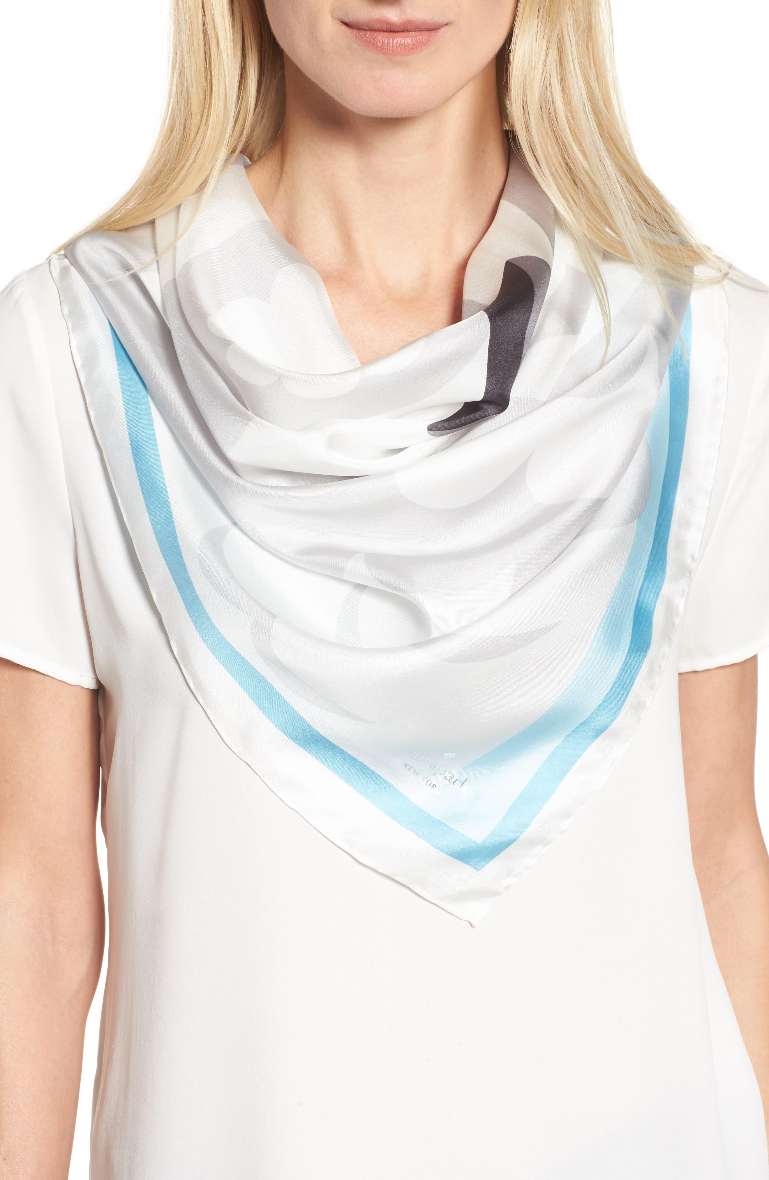 owl silk square scarf,                         Main,                         color, 900