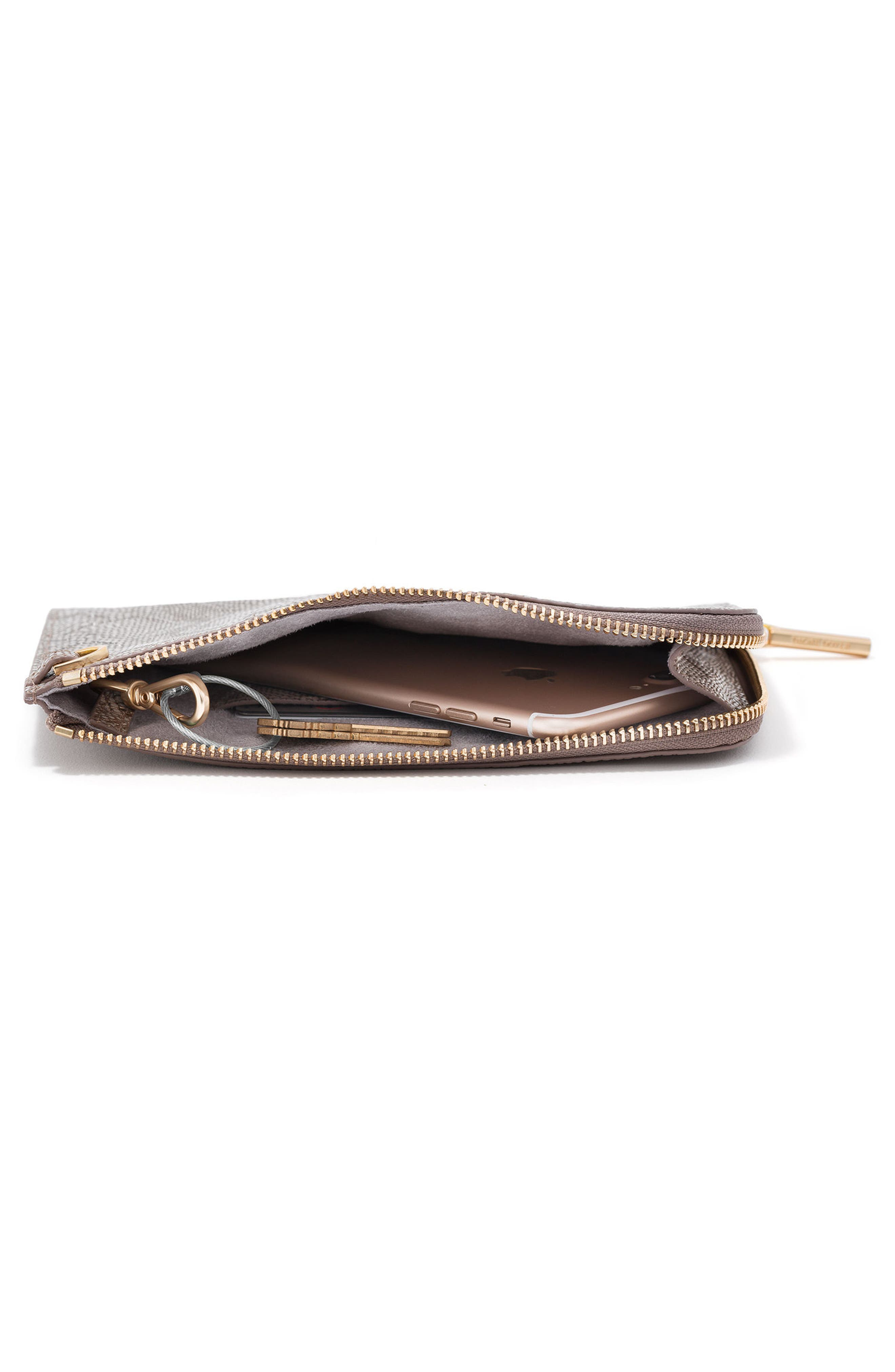 Small Elle Leather Clutch,                             Alternate thumbnail 20, color,