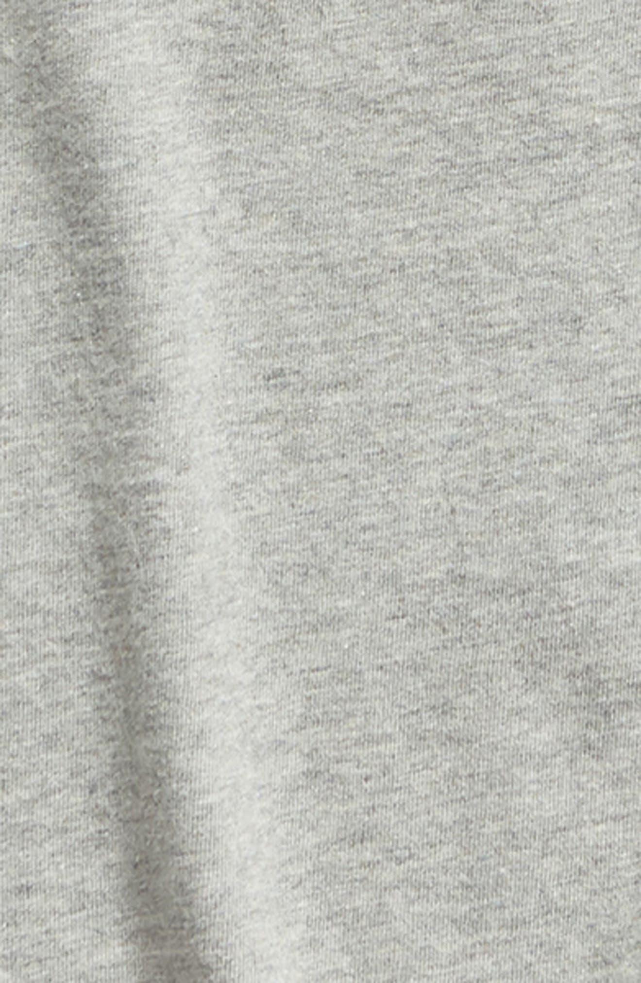 TREASURE & BOND,                             Tuck Sleeve Top,                             Alternate thumbnail 2, color,                             GREY MEDIUM HEATHER