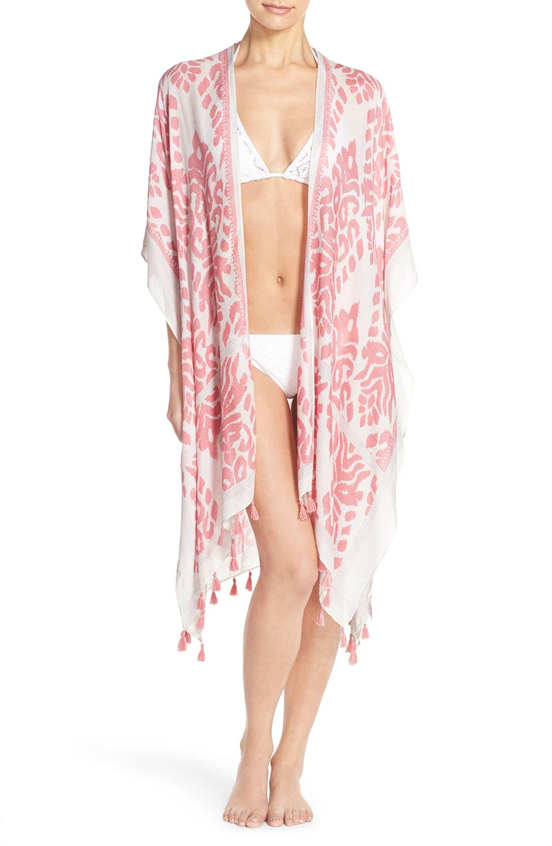Fringed Swim Cover-Up,                             Main thumbnail 4, color,