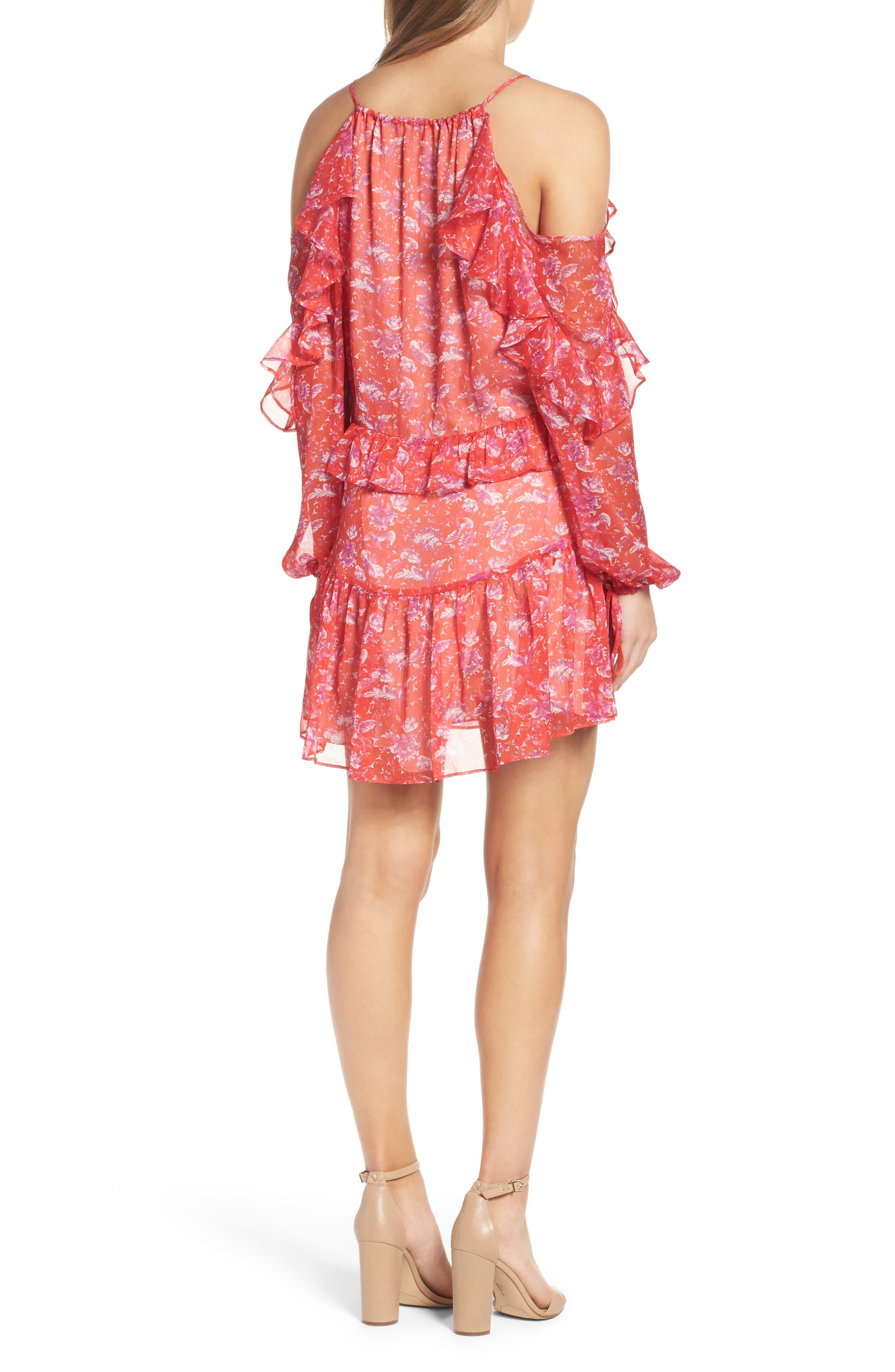 Cold Shoulder Dress,                             Alternate thumbnail 2, color,                             610