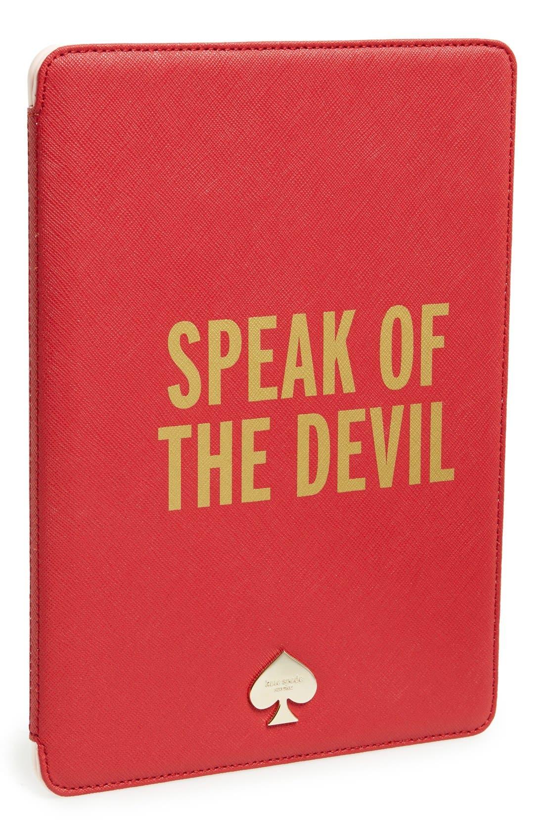 'speak of the devil' iPad Air case,                             Main thumbnail 1, color,                             600