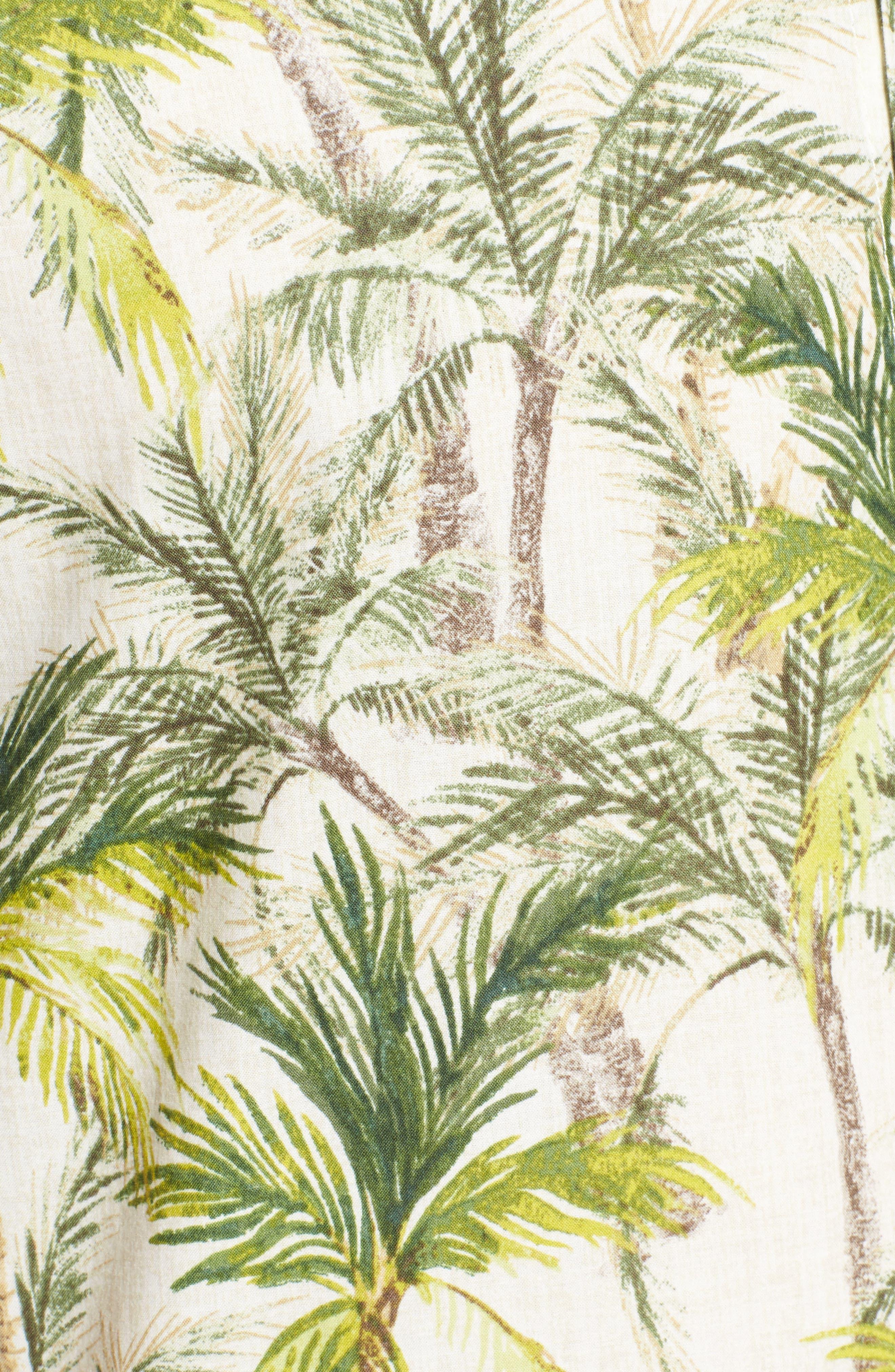 Coco Vida Trim Fit Print Cotton Lawn Sport Shirt,                             Alternate thumbnail 5, color,                             102